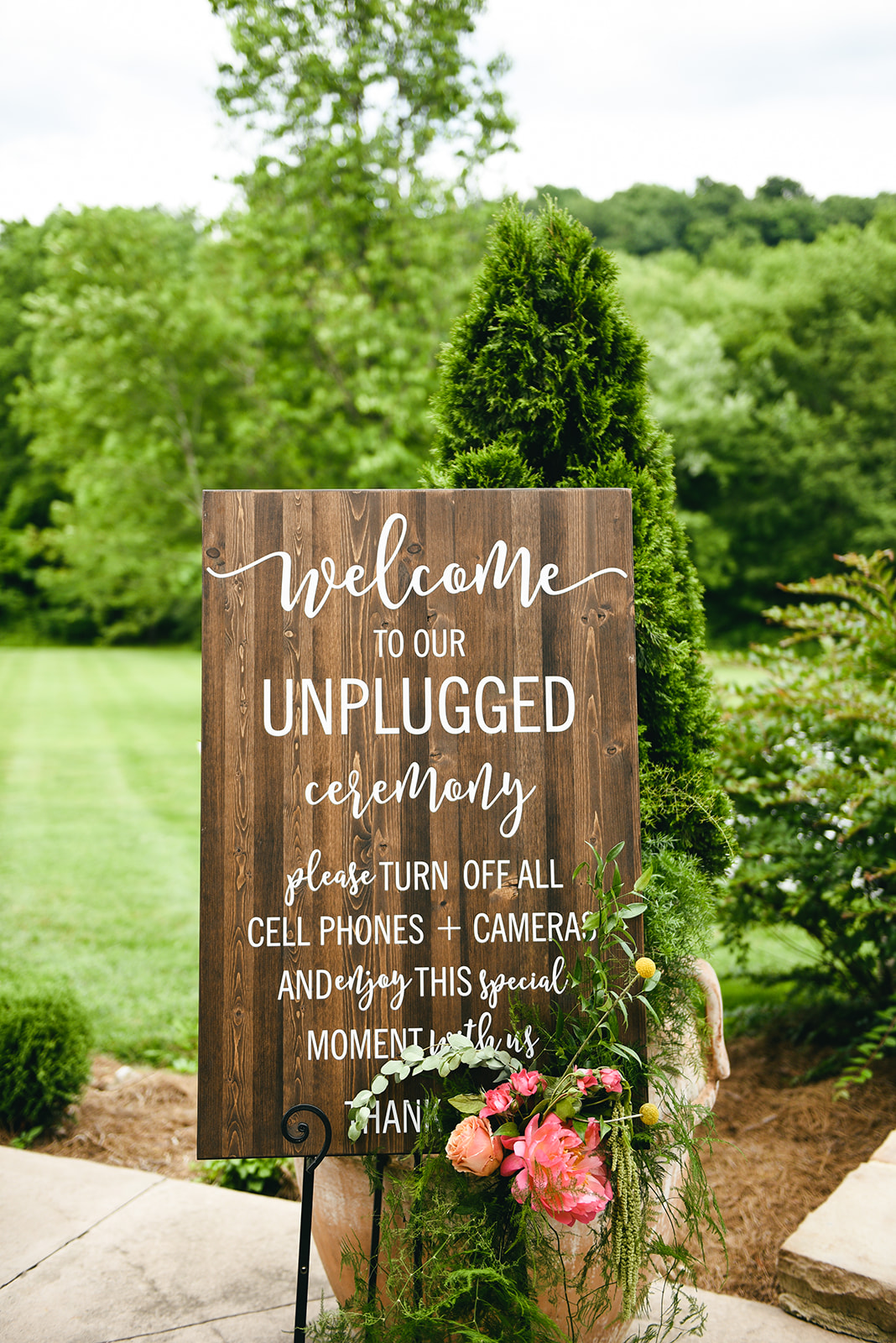 Wooden wedding sign: Elegant Cason Cove Wedding featured on Nashville Bride Guide