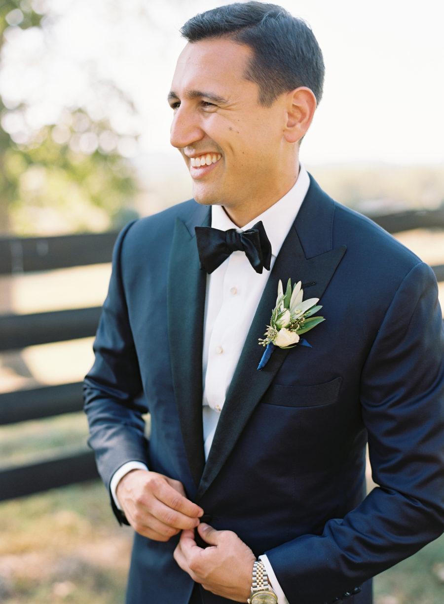 Modern grooms attire for Autumn Crest Farm Wedding