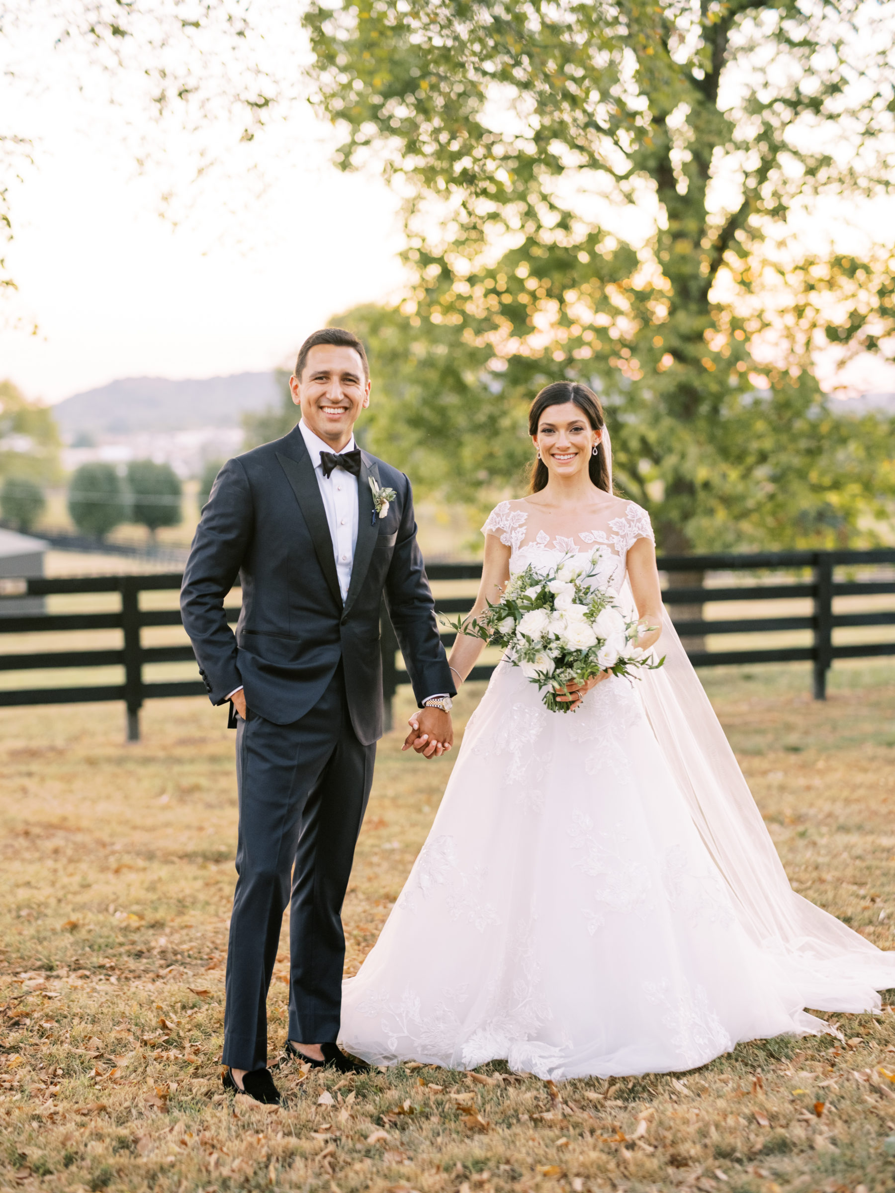Fall wedding portrait by Nathan Westerfield wedding photographer featured on Nashvilel Bride Guide