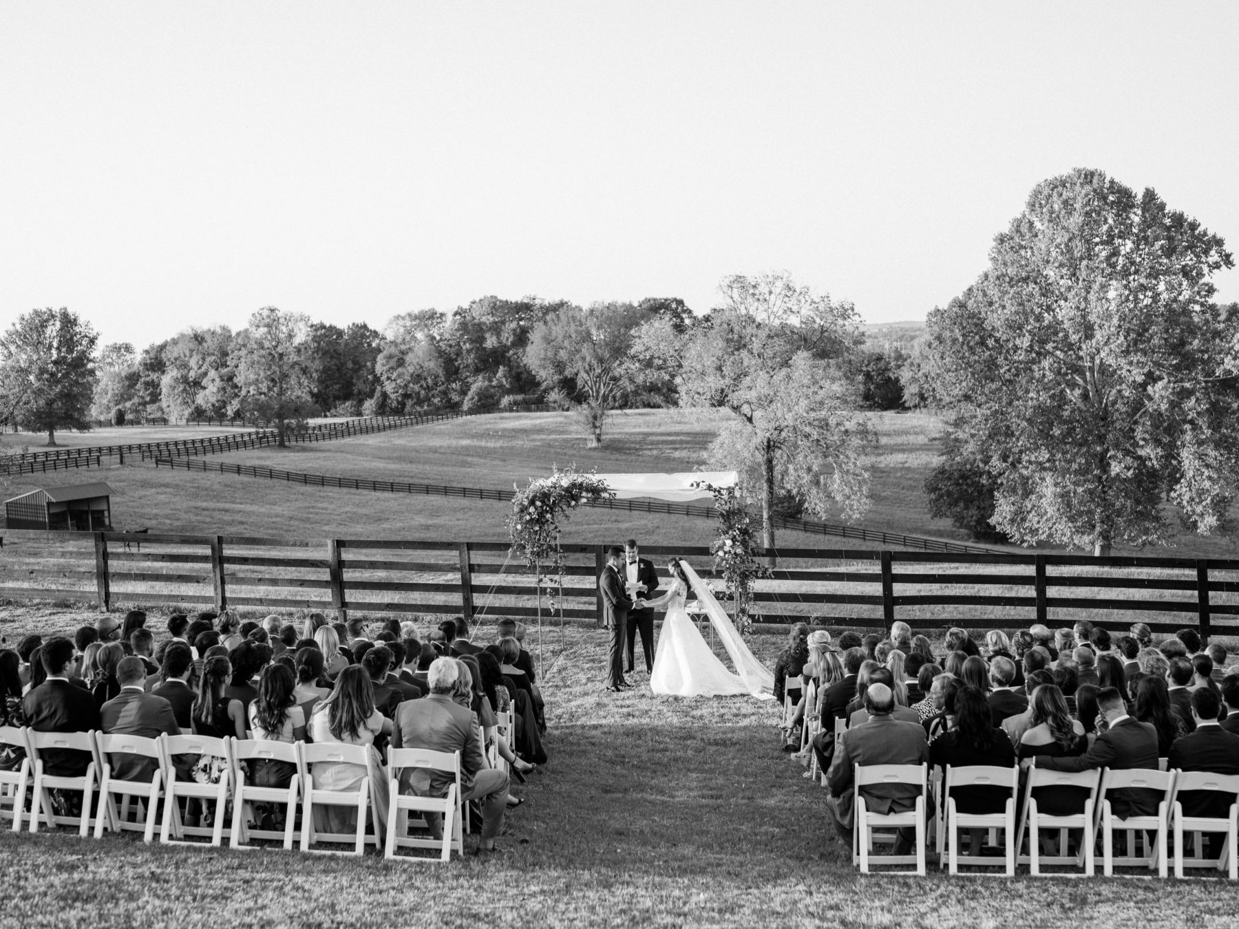 Outdoor farm fall wedding captured by Nathan Westerfield featured on Nashville Bride Guide