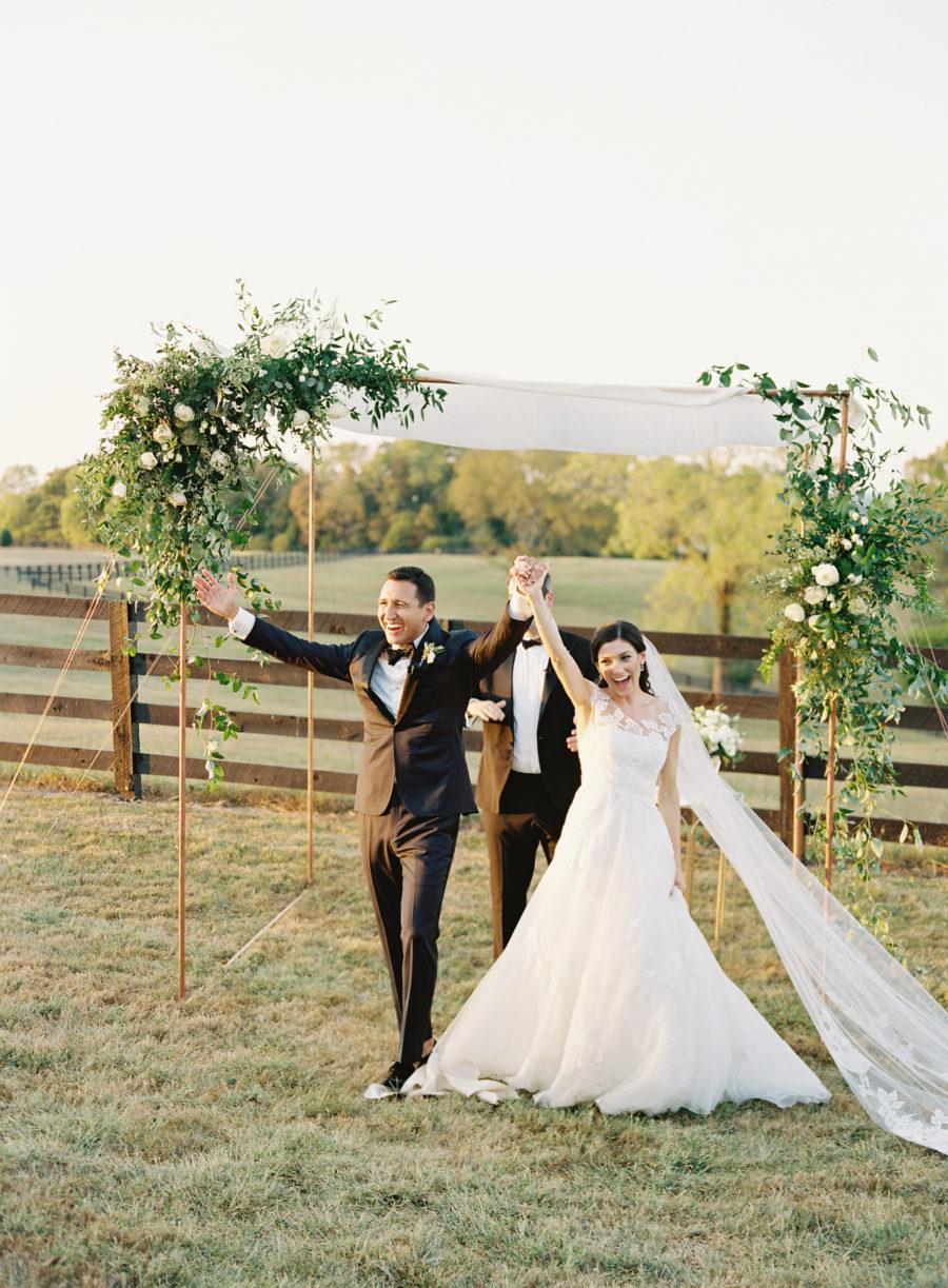 Modern outdoor Nashville wedding featured on Nashville Bride Guide