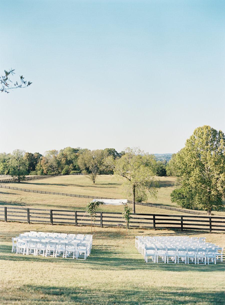 Outdoor wedding ceremony inspiration