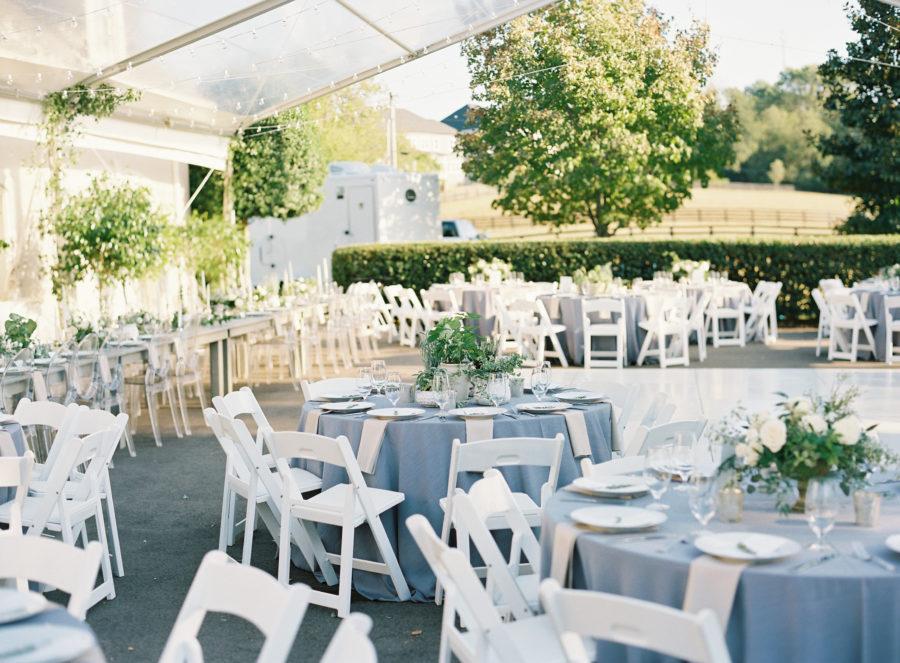 Autumn Crest Farm wedding reception decor