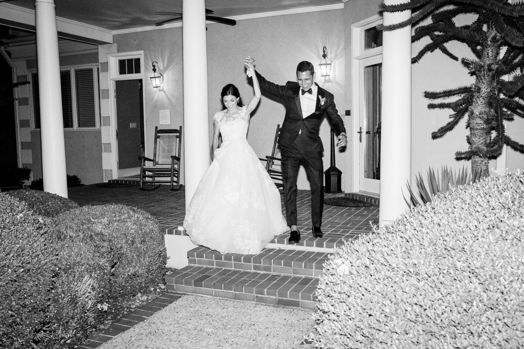 Wedding entrance to wedding reception at Autumn Crest Farm