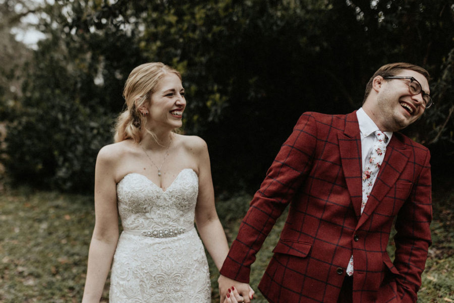 Candid wedding portrait: Magical Winter Wedding by Meghan Melia Photography featured on Nashville Bride Guide!
