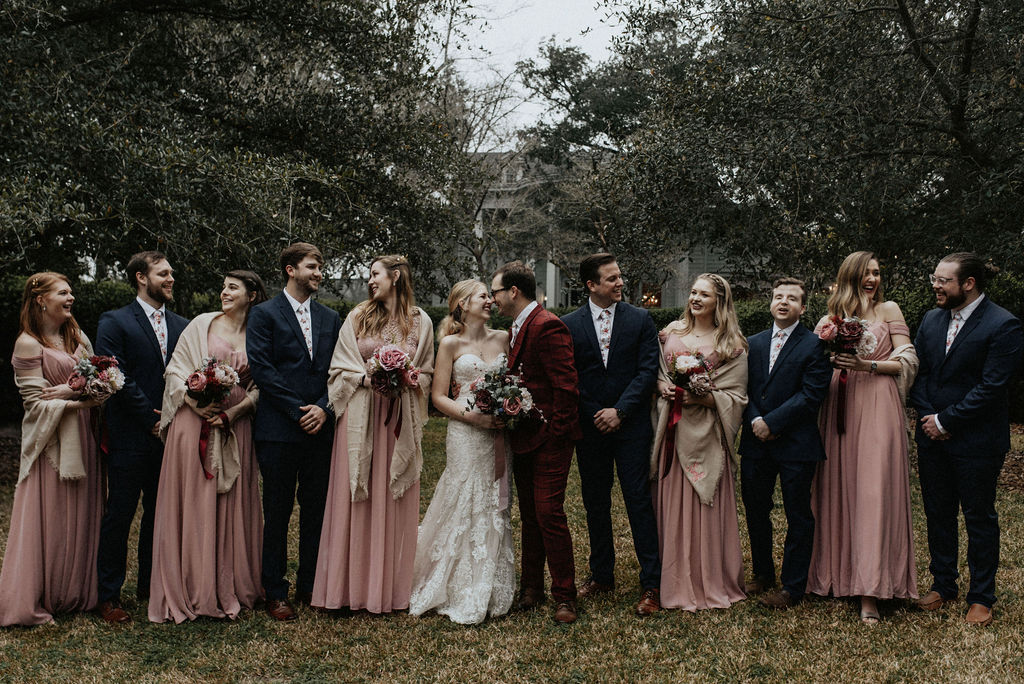 Wedding party photos: Magical Winter Wedding featured on Nashville Bride Guide!