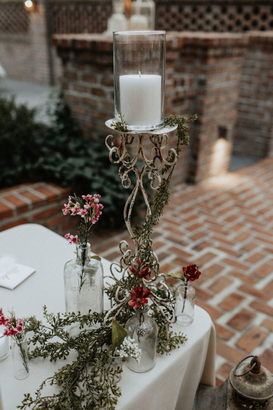 Wedding candle decor: Magical Winter Wedding by Meghan Melia Photography featured on Nashville Bride Guide!