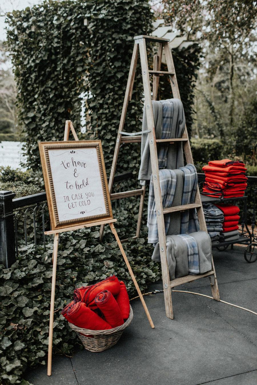 Outdoor wedding ideas: Magical Winter Wedding featured on Nashville Bride Guide!