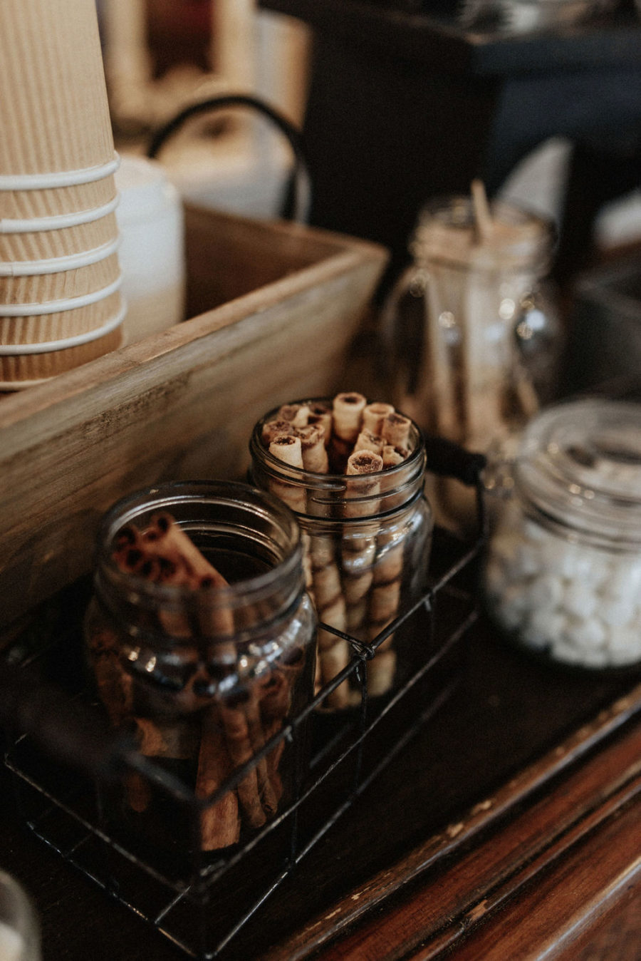 Hot cocoa wedding bar: Magical Winter Wedding by Meghan Melia Photography featured on Nashville Bride Guide!