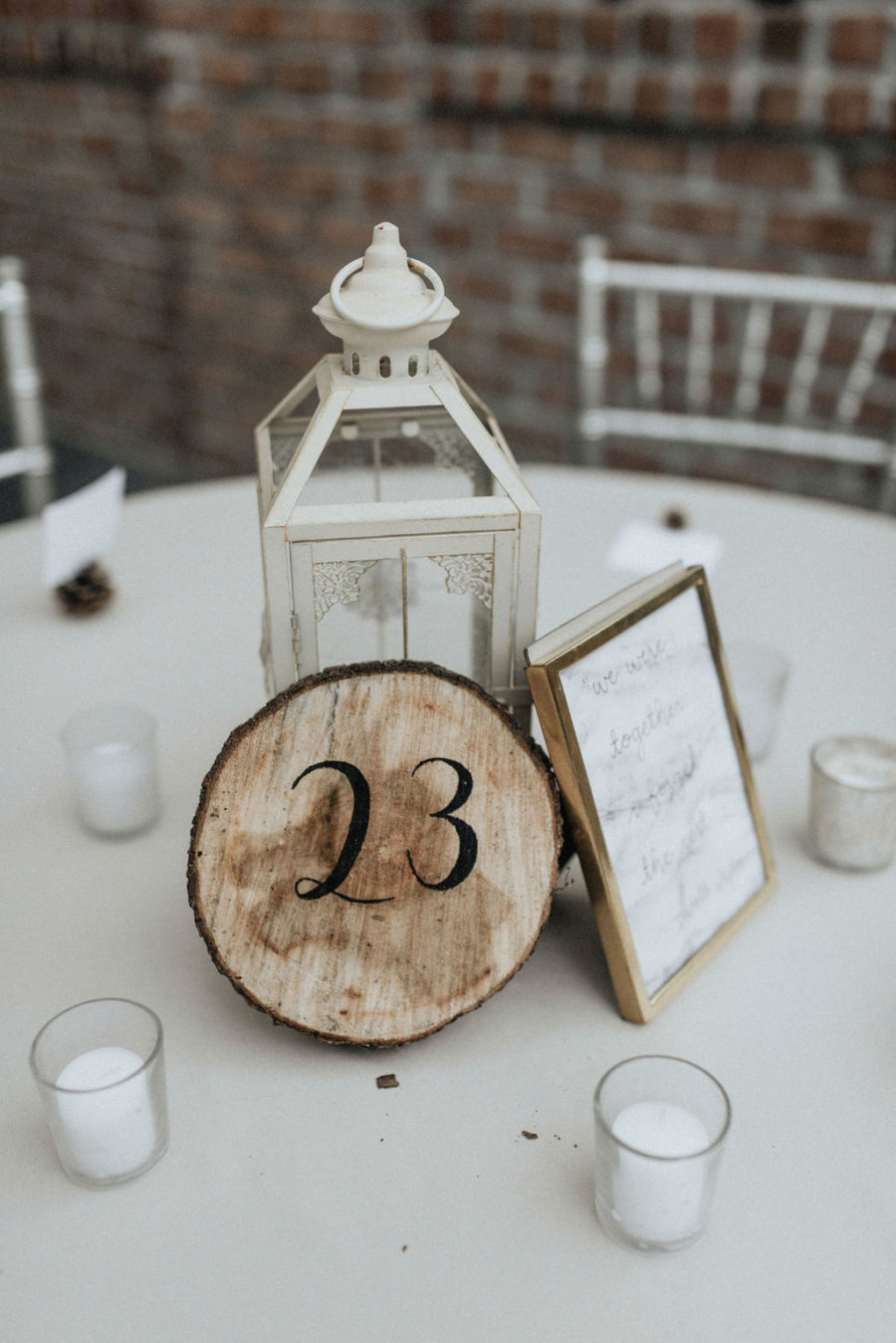Lantern wedding centerpieces: Magical Winter Wedding by Meghan Melia Photography featured on Nashville Bride Guide!
