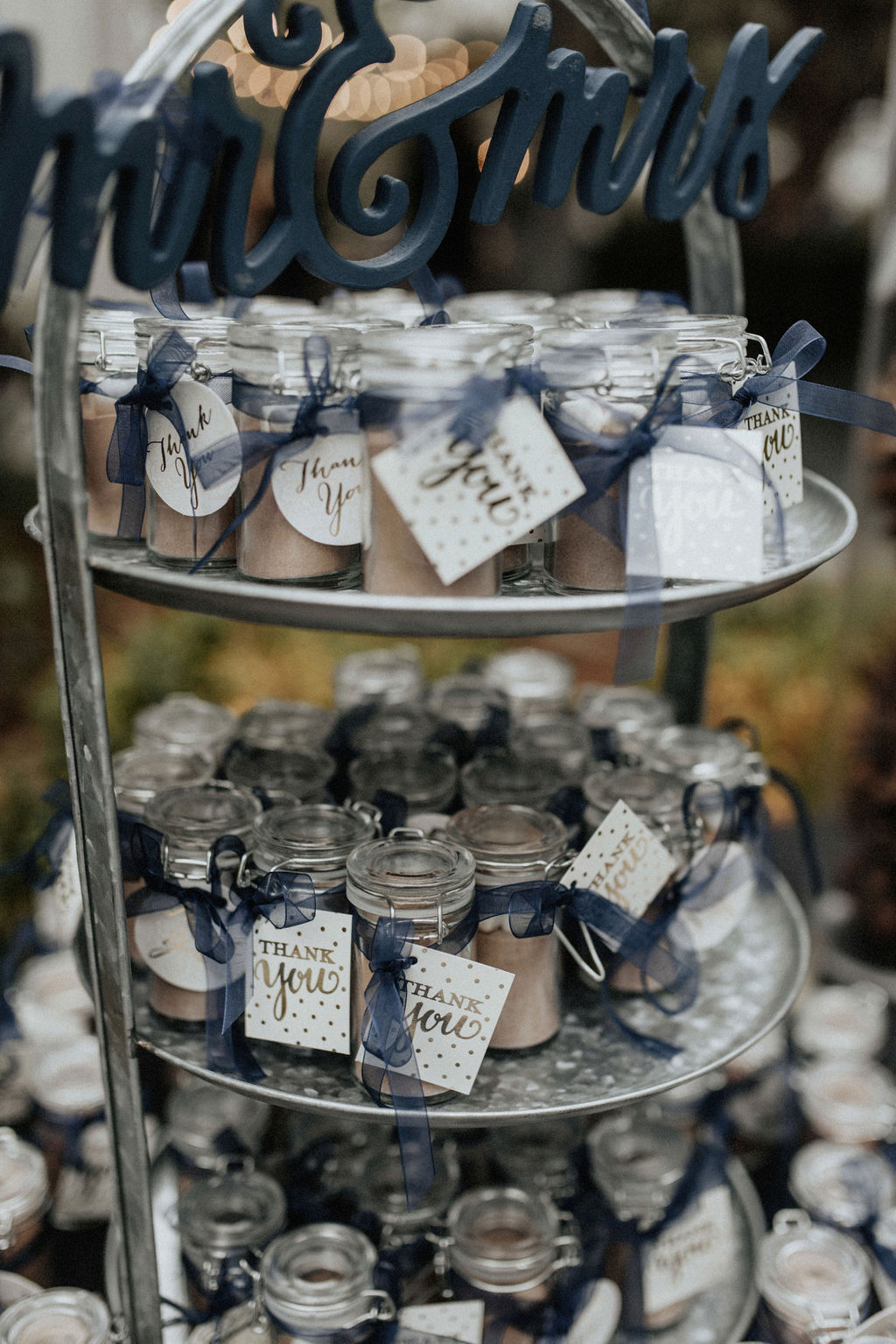 Hot chocolate wedding favors: Magical Winter Wedding by Meghan Melia Photography featured on Nashville Bride Guide!