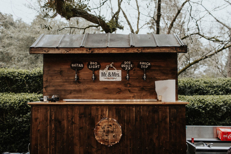 Outdoor wedding bar: Magical Winter Wedding by Meghan Melia Photography featured on Nashville Bride Guide!