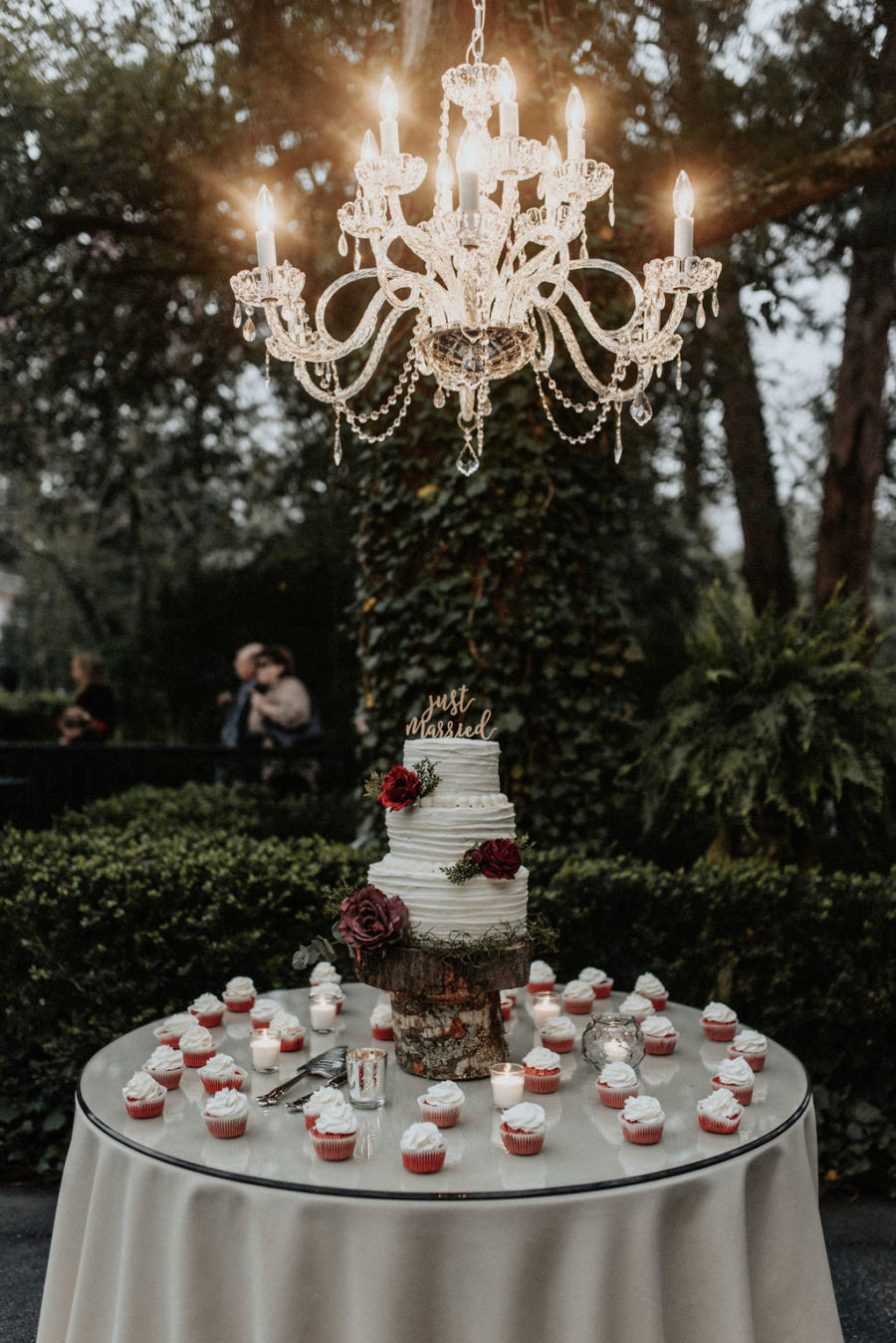 Wedding cake table: Magical Winter Wedding by Meghan Melia Photography featured on Nashville Bride Guide!