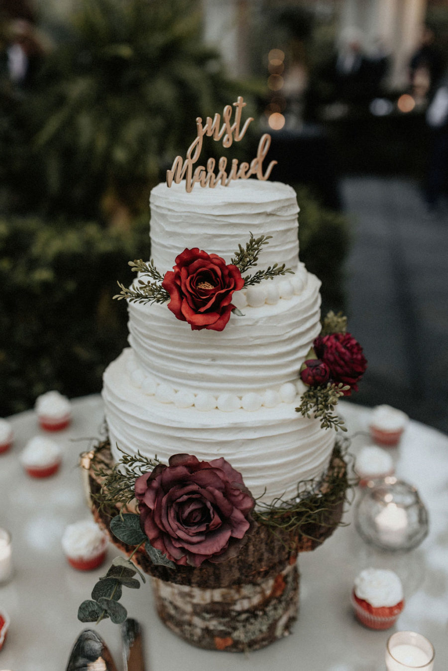 Winter wedding cake: Magical Winter Wedding by Meghan Melia Photography featured on Nashville Bride Guide!