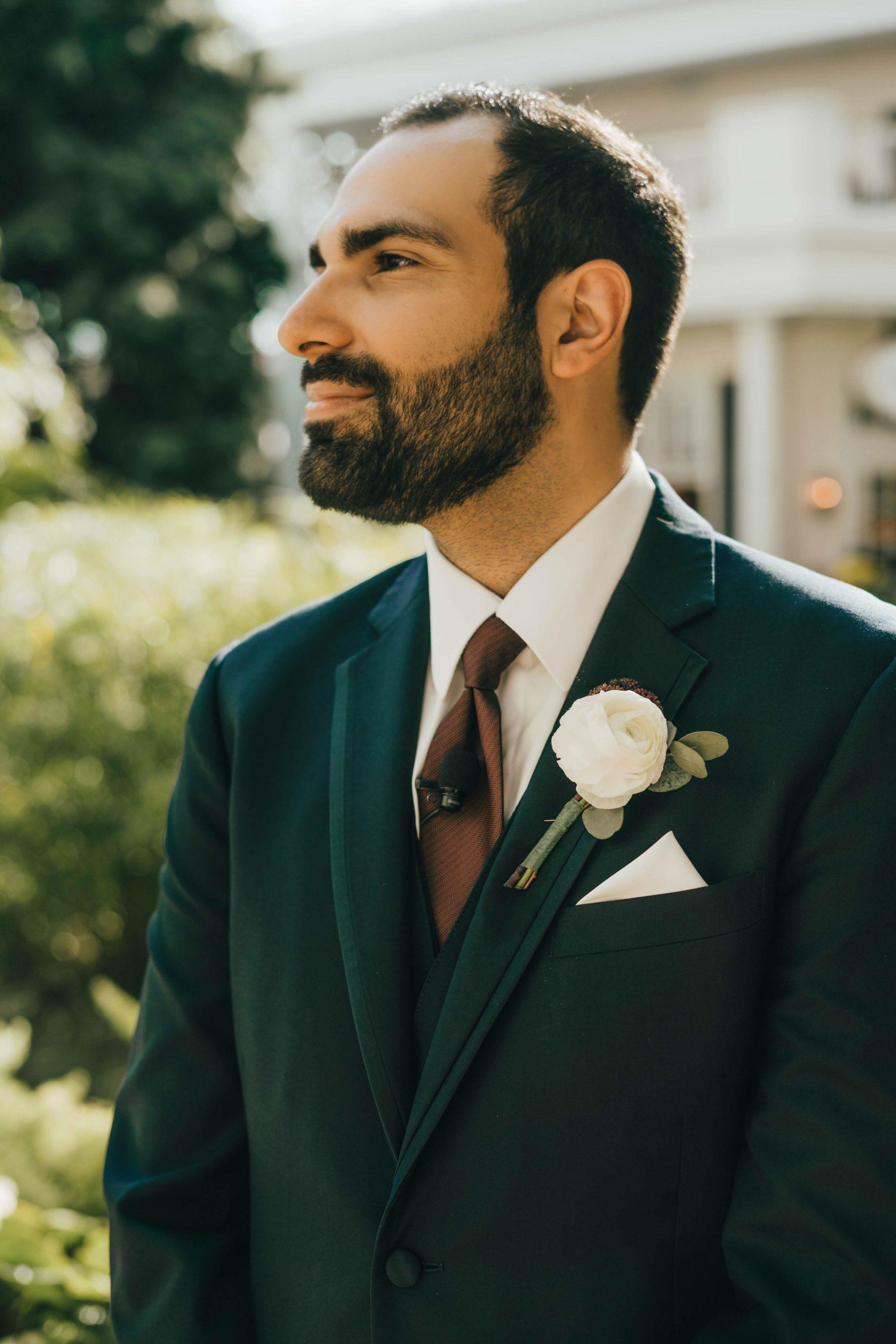 Nashville Flower Market Wedding Boutonniere for Opryland Wedding