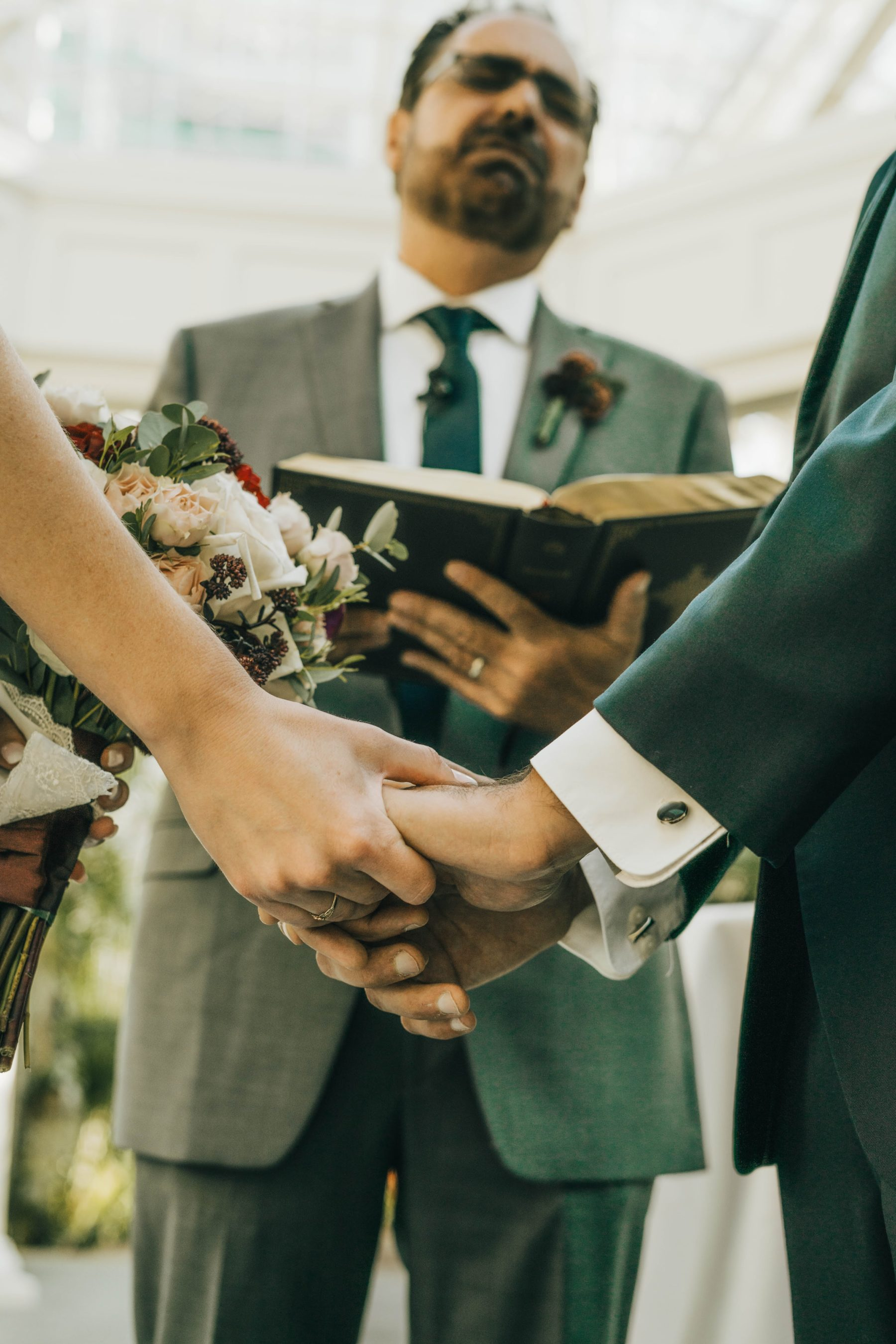 Opryland wedding ceremony captured by Grace Upon Grace Wedding Photography