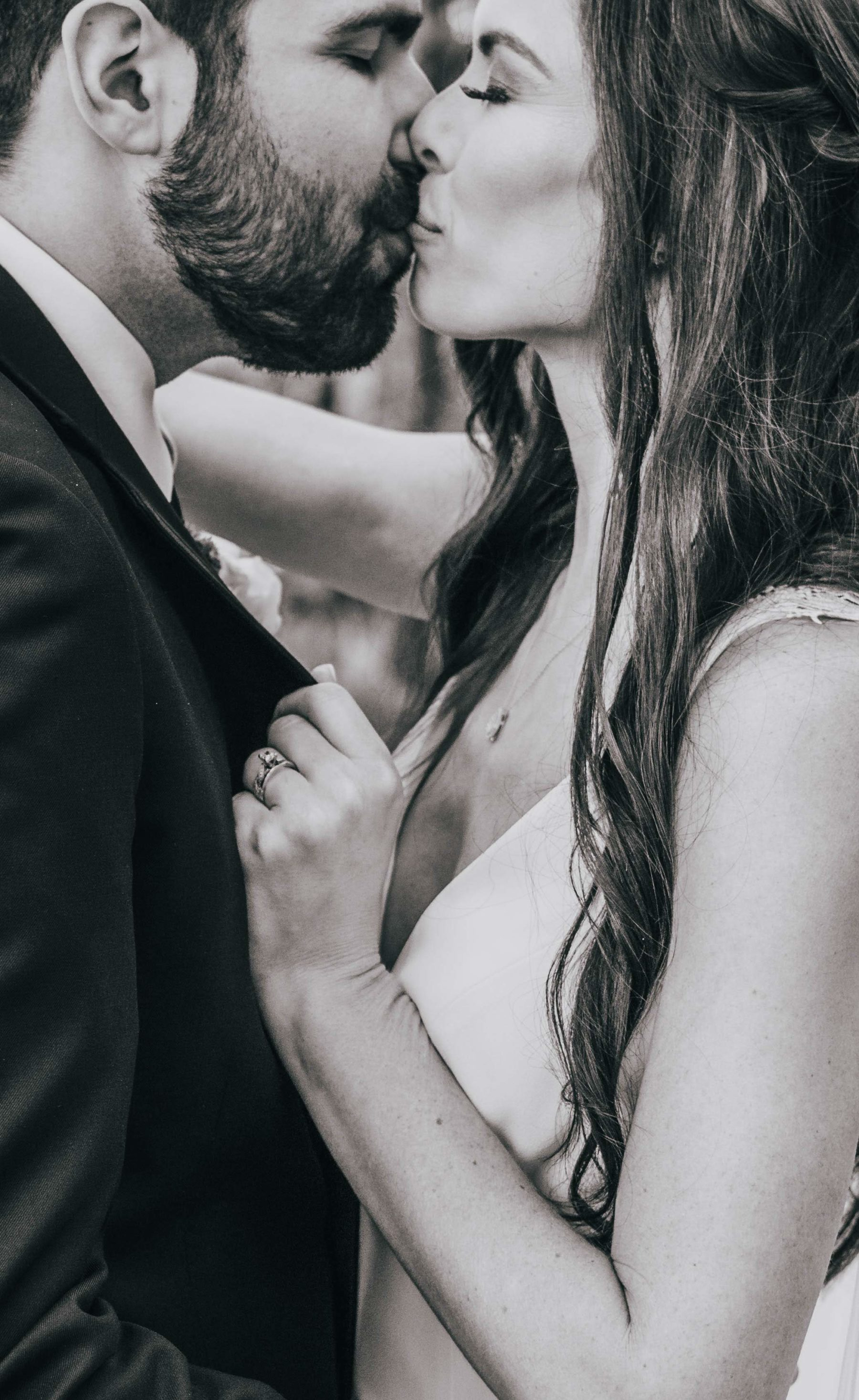 Black and white wedding portrait by Grace Upon Grace Photography