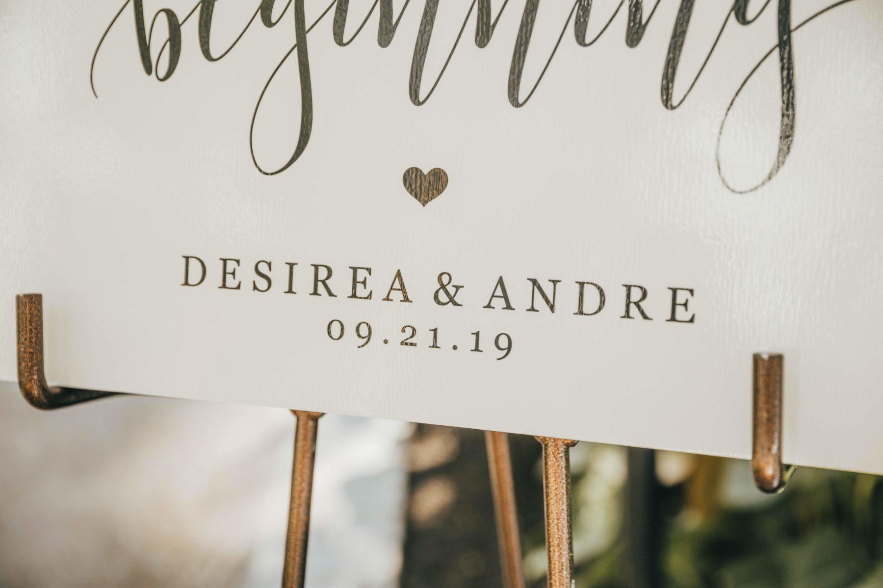 Wedding Sign for Opryland Wedding featured on Nashville Bride Guide