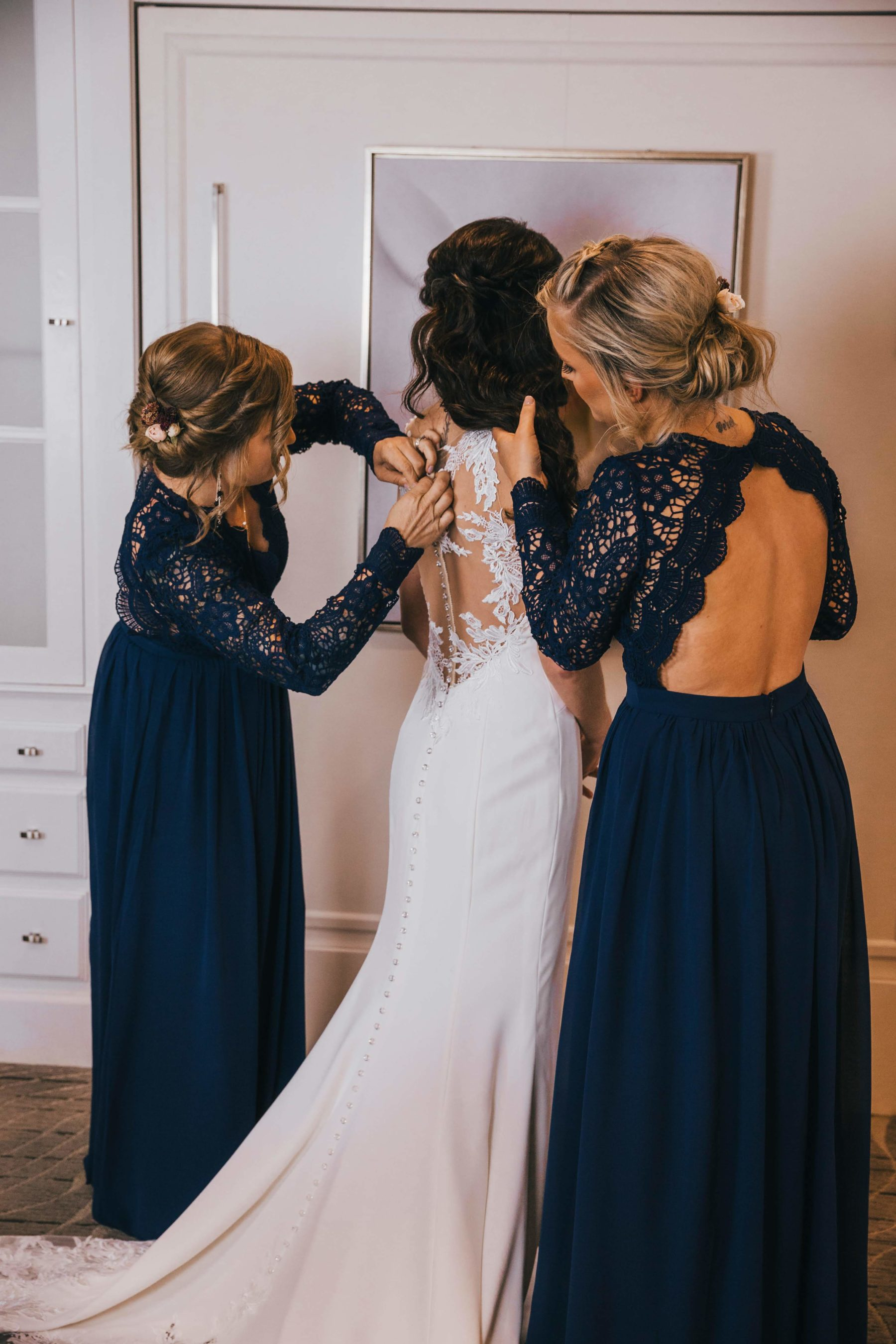 Wedding dress back detail for Opryland Wedding