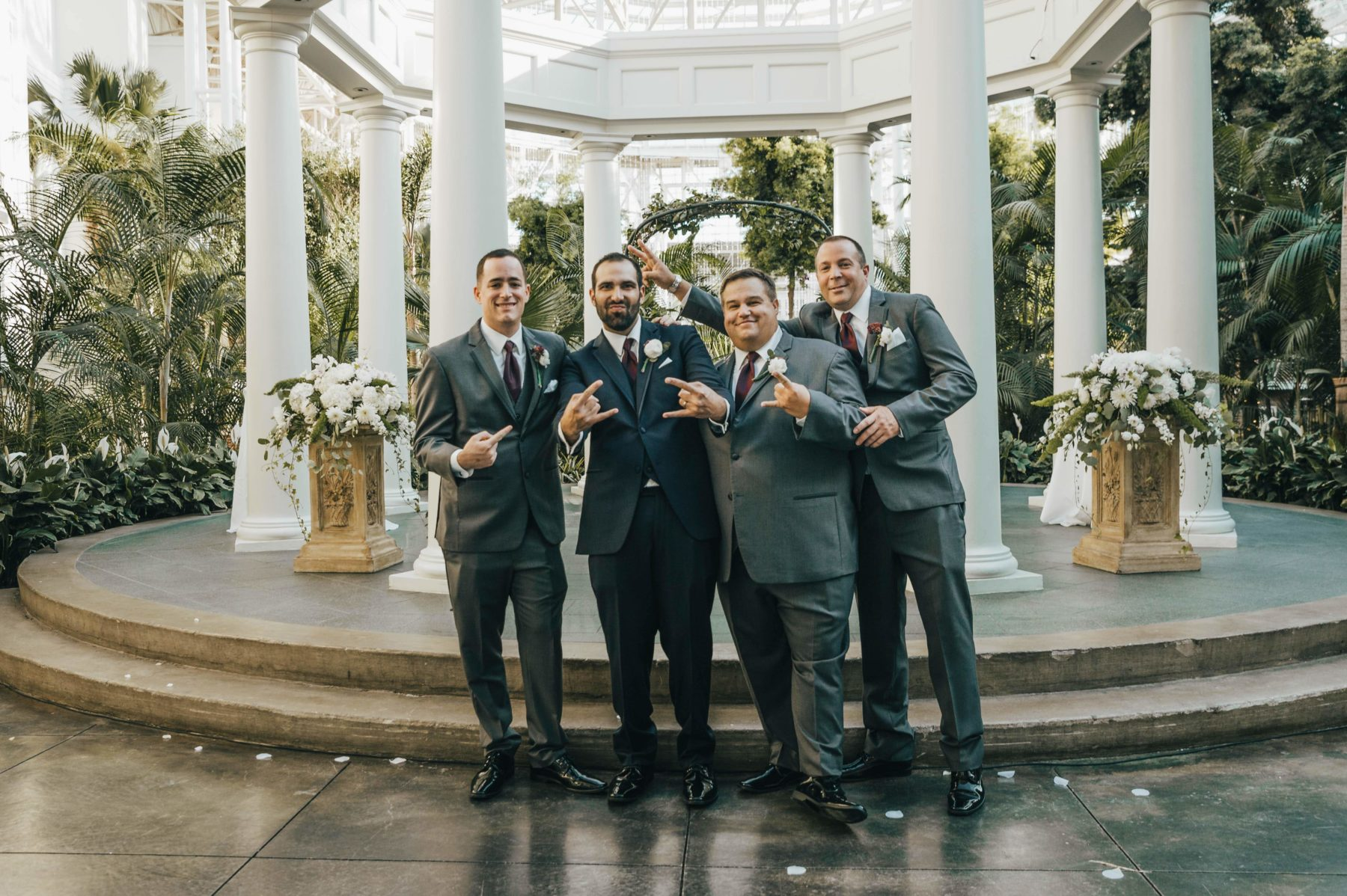 Gray Men's Wearhouse Wedding Tuxedos