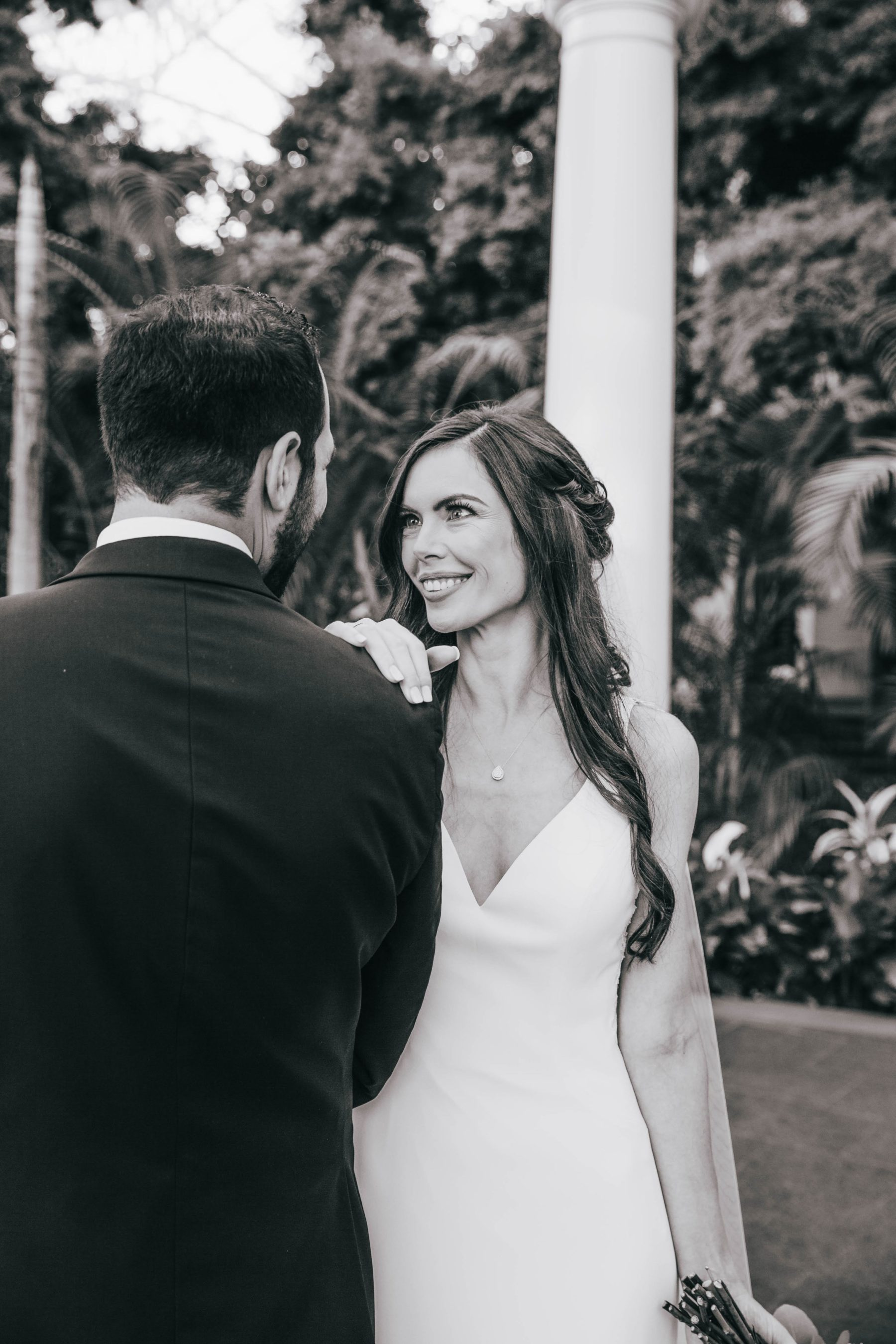 Black and white wedding photography featured on Nashville Bride Guide