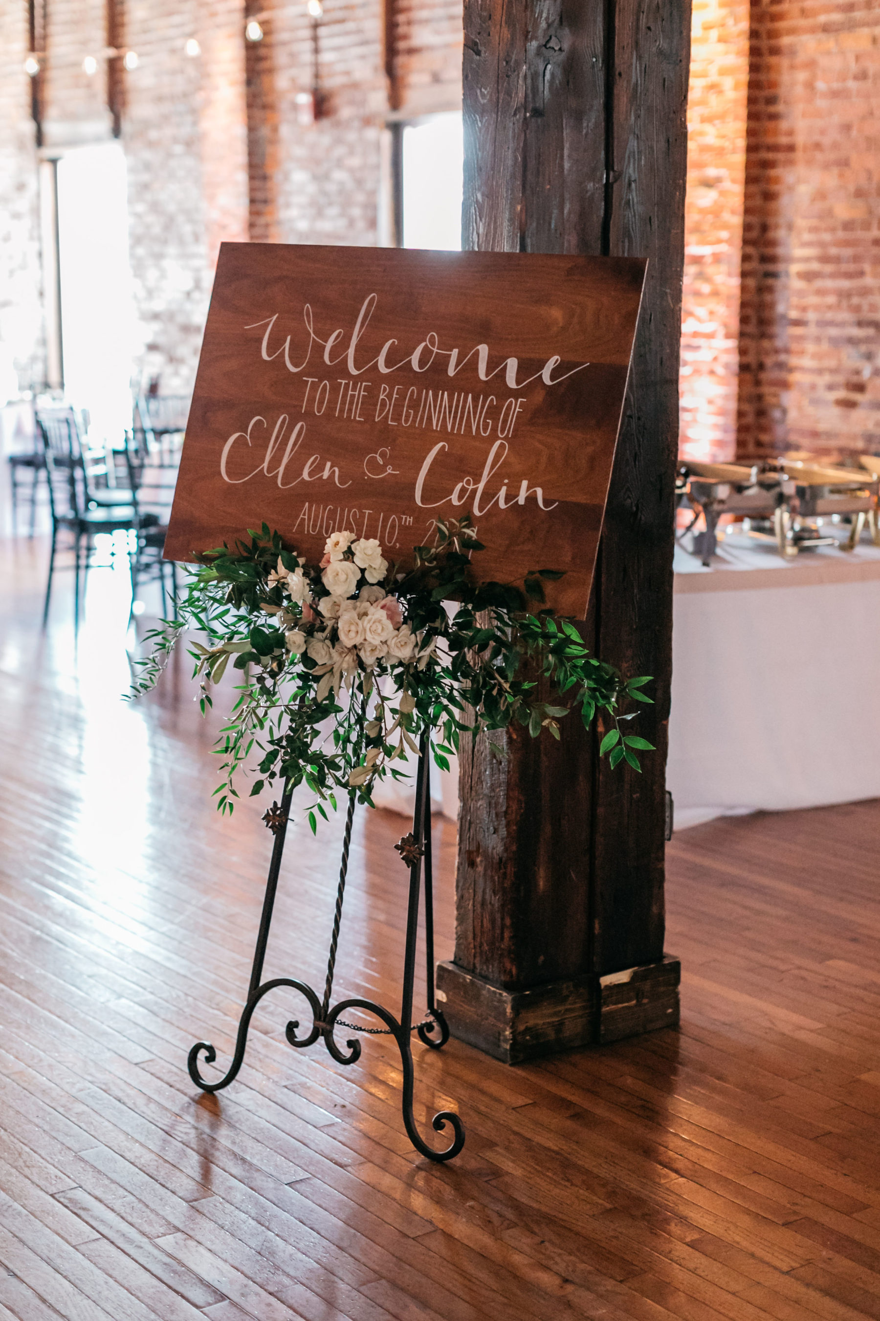 Wedding reception sign: Simply Elegant Nashville Wedding captured by Meredith Teasley