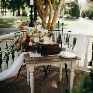 Rustic-Boho Wedding Cake Table: Boho Winter Wedding Styled Shoot by Riley Gardner Photography featured on Nashville Bride Guide