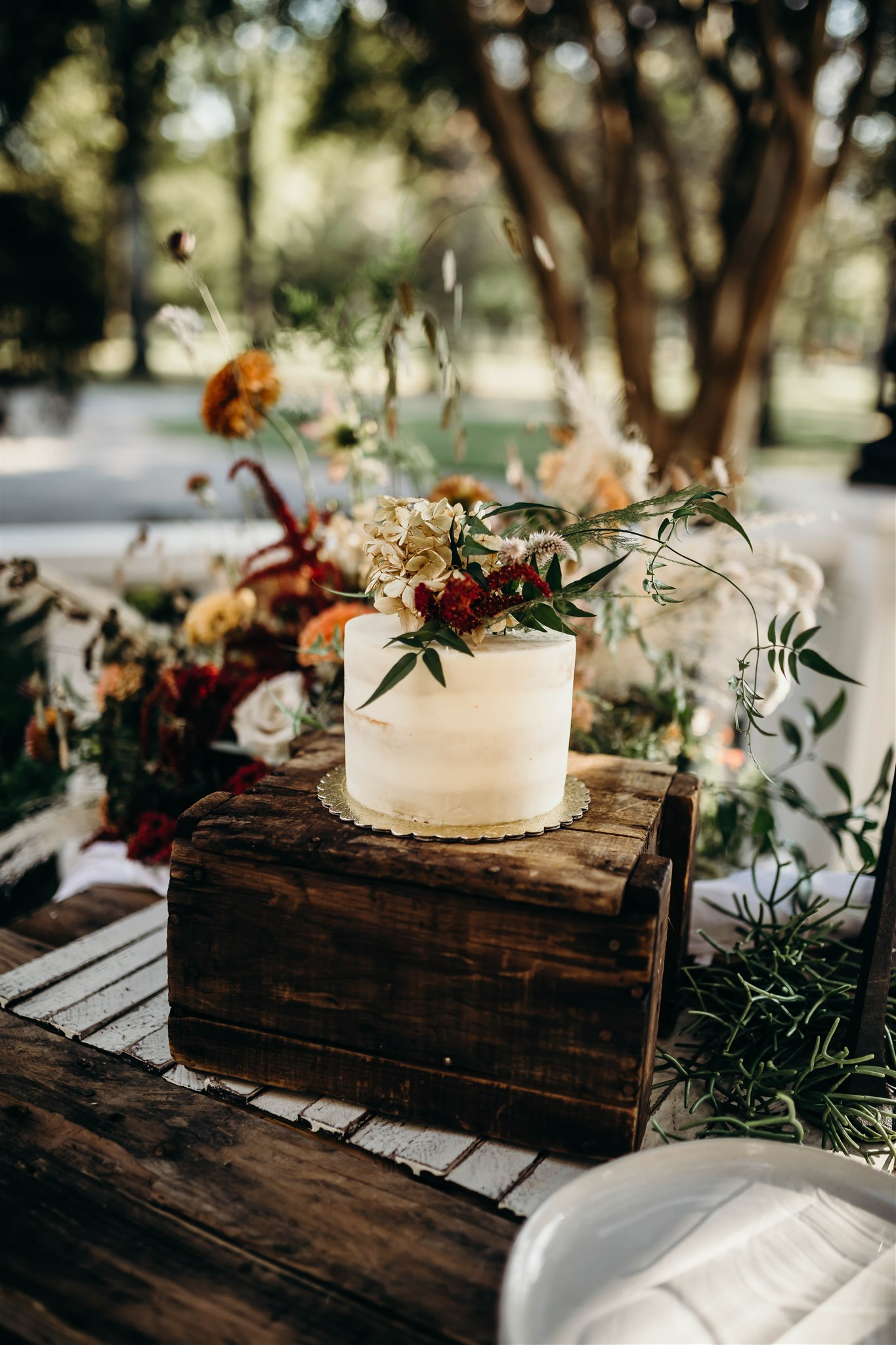 Simple Wedding Cake Design: Boho Winter Wedding Styled Shoot by Riley Gardner Photography featured on Nashville Bride Guide