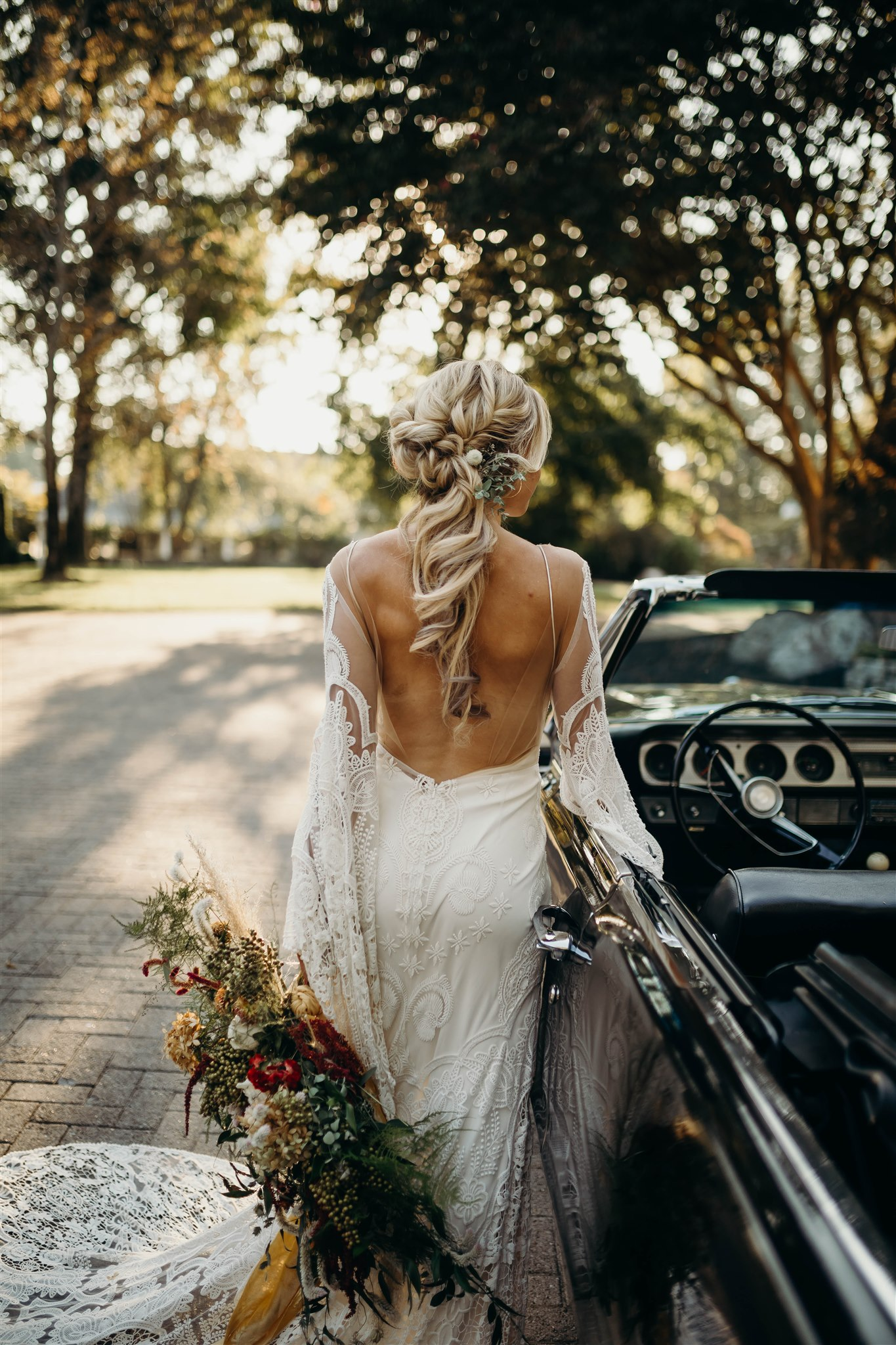Boho Wedding Hair: Boho Winter Wedding Styled Shoot by Riley Gardner Photography featured on Nashville Bride Guide