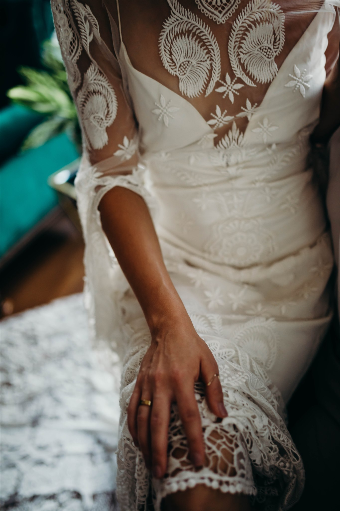 Boho Wedding Dress for Winter Wedding Styled Shoot featured on Nashville Bride Guide