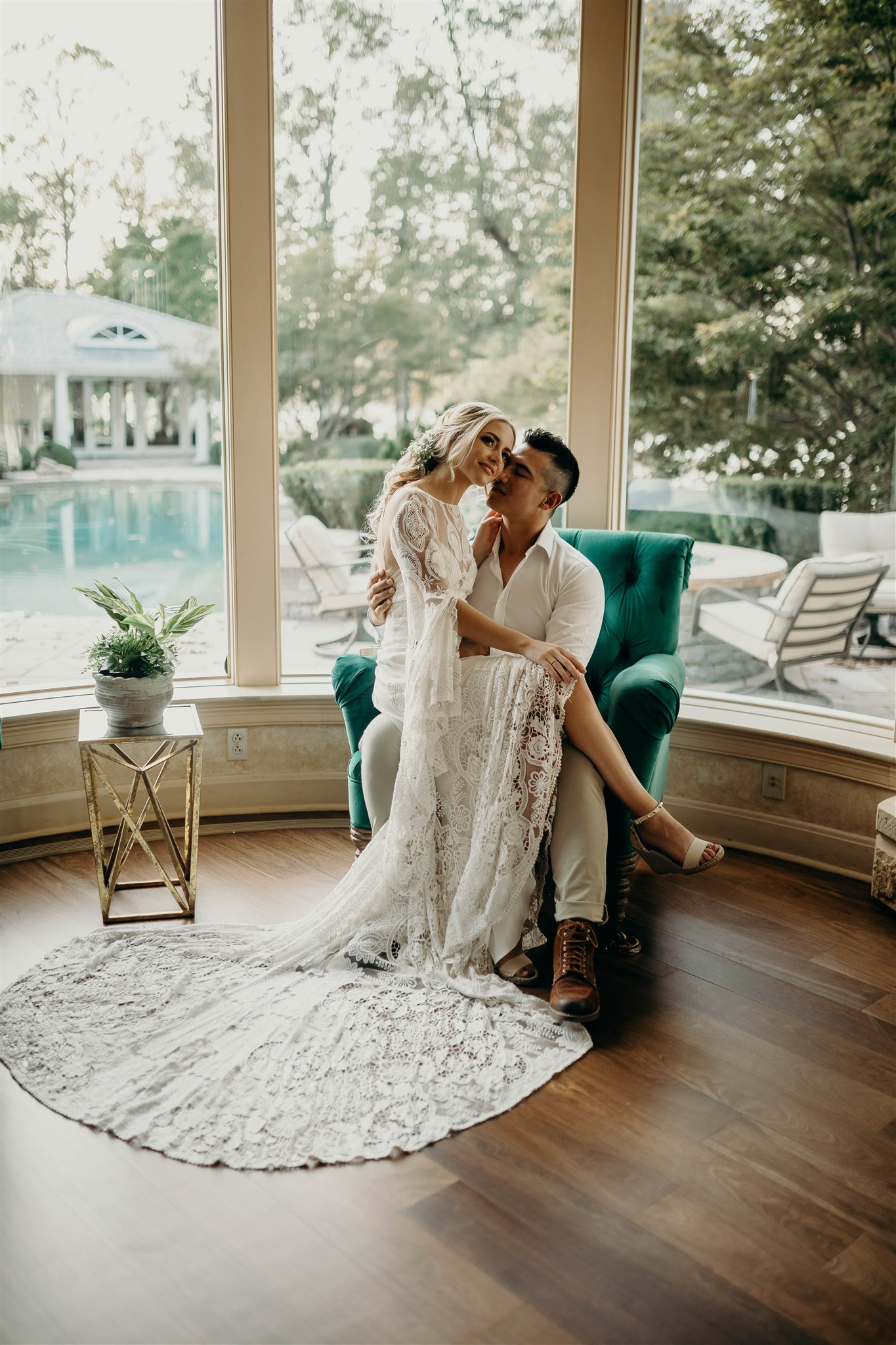 Boho Wedding Decor: Boho Wedding Dress for Winter Wedding Styled Shoot featured on Nashville Bride Guide