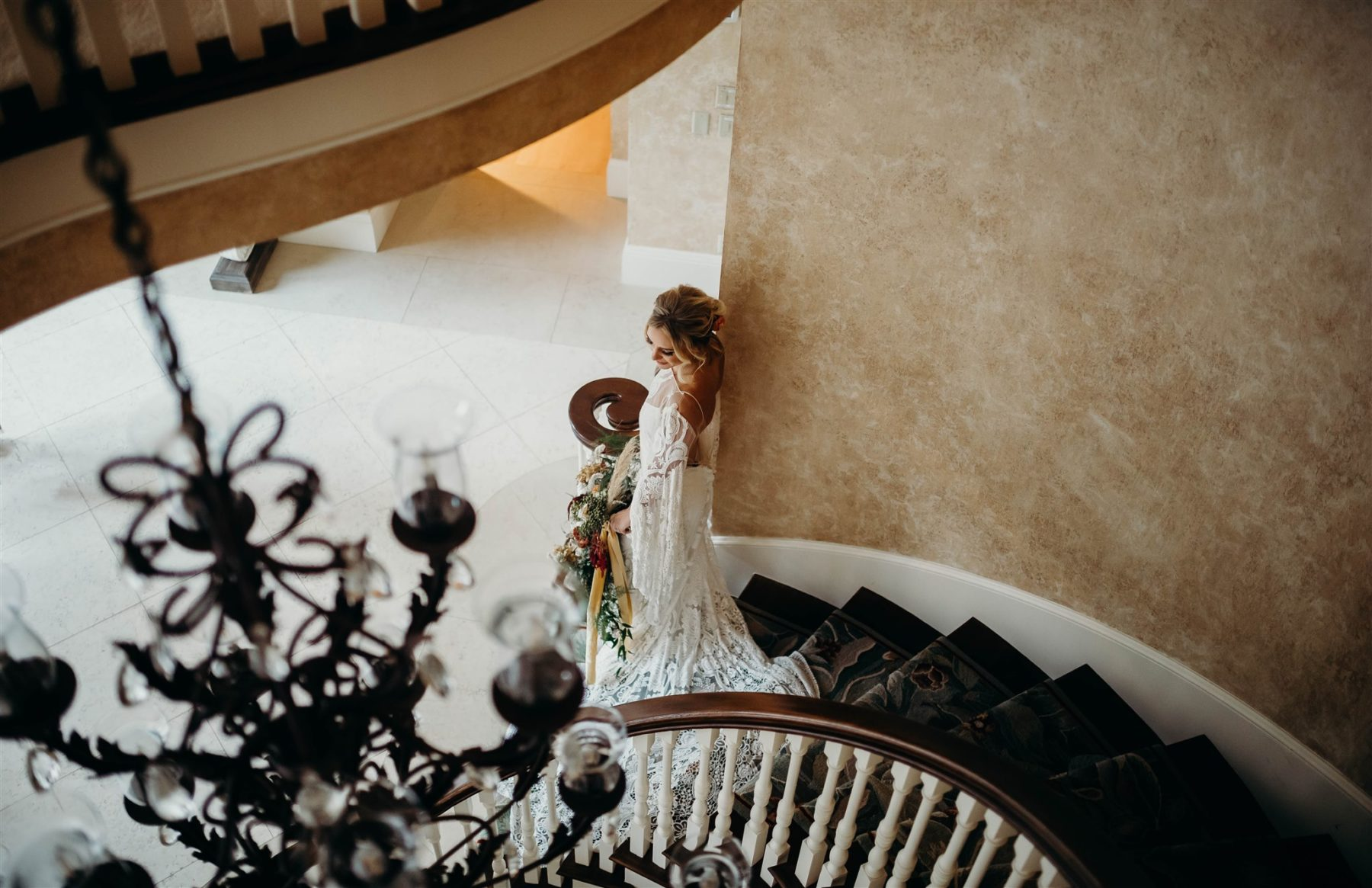 Bridal Portrait Inspiration: Boho Wedding Dress for Winter Wedding Styled Shoot featured on Nashville Bride Guide