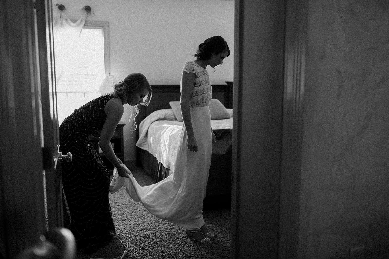 Black and white wedding portrait: Cedarmont Farm Wedding featured on Nashville Bride Guide!