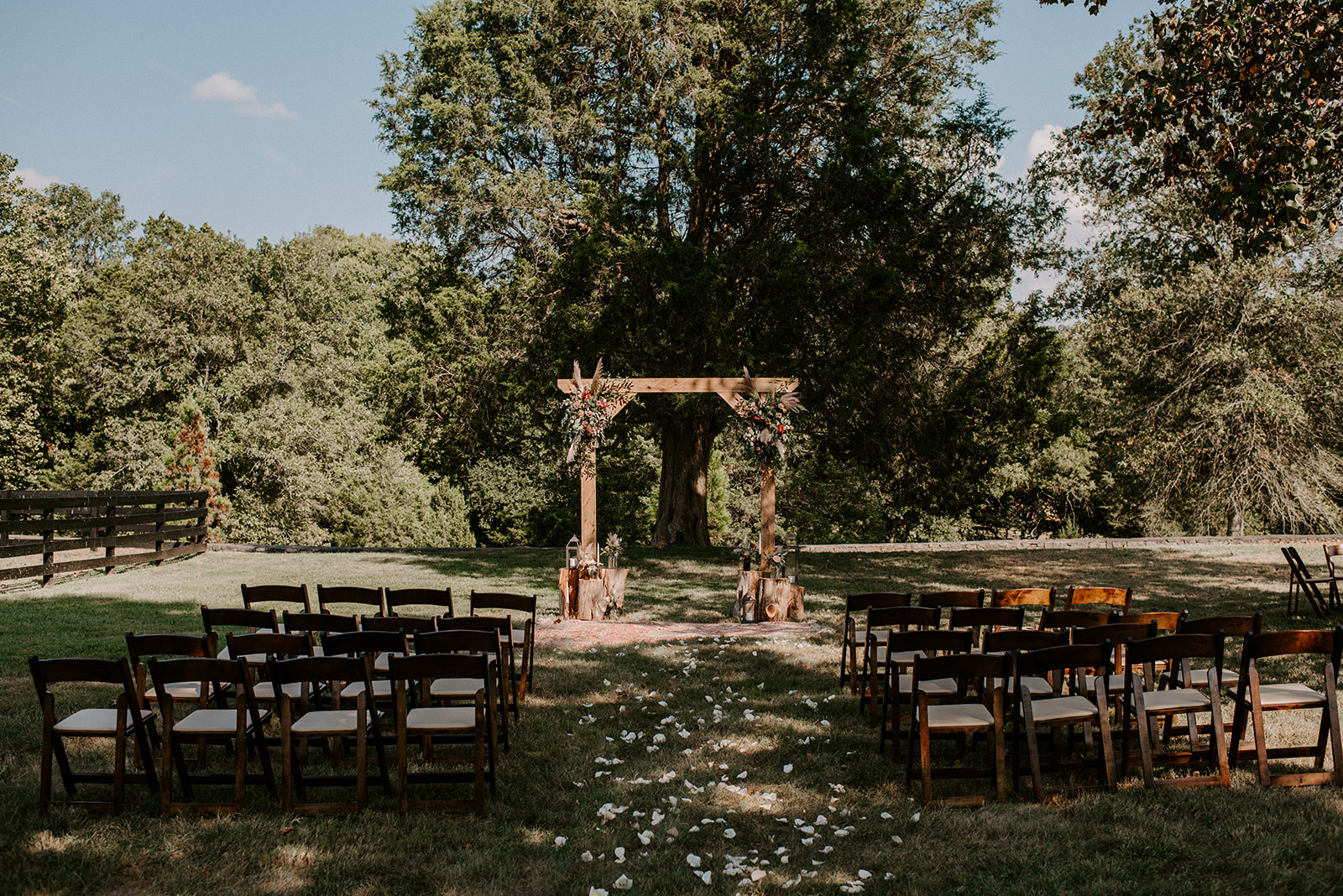 Outdoor Cedermont Farm Wedding Ceremony featured on Nashville Bride Guide