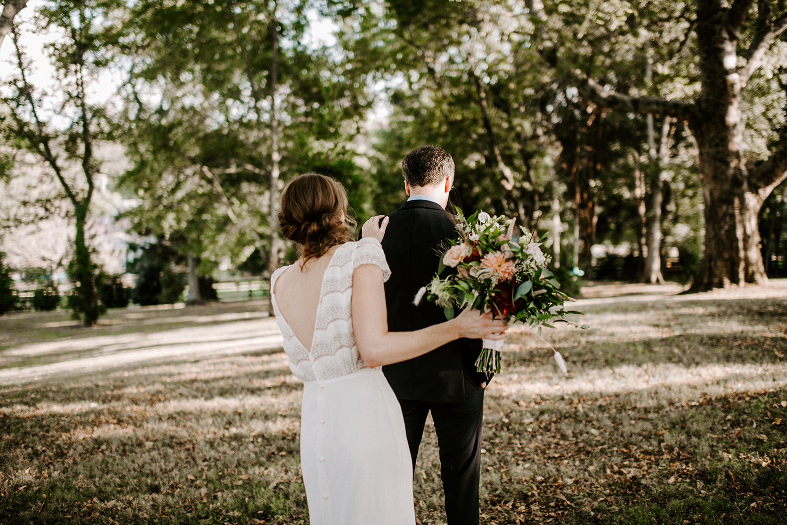 Wedding First Look by Savannah Ashley Photography