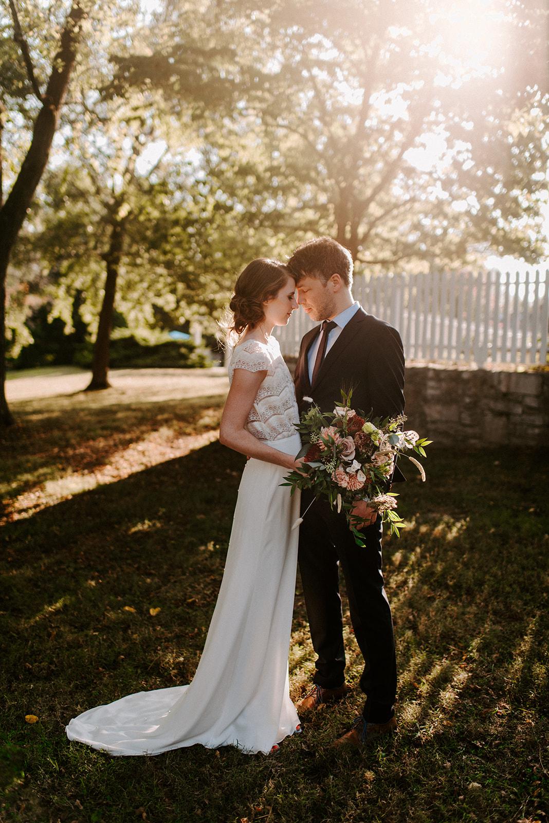 Sunset wedding photos by Savannah Ashley Photography