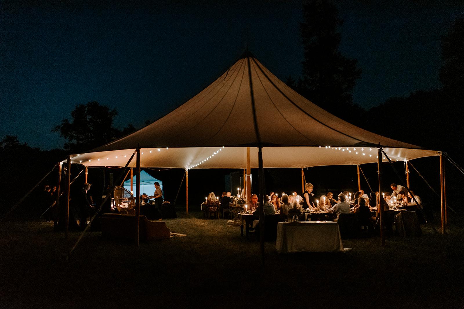 Outdoor Sail Tent Nashville wedding featured on Nashville Bride Guide