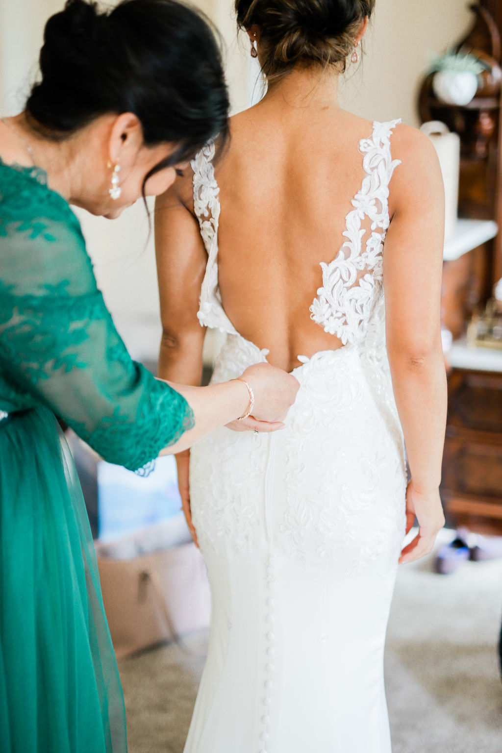 Lace wedding dress design captured by Maria Gloer Photography