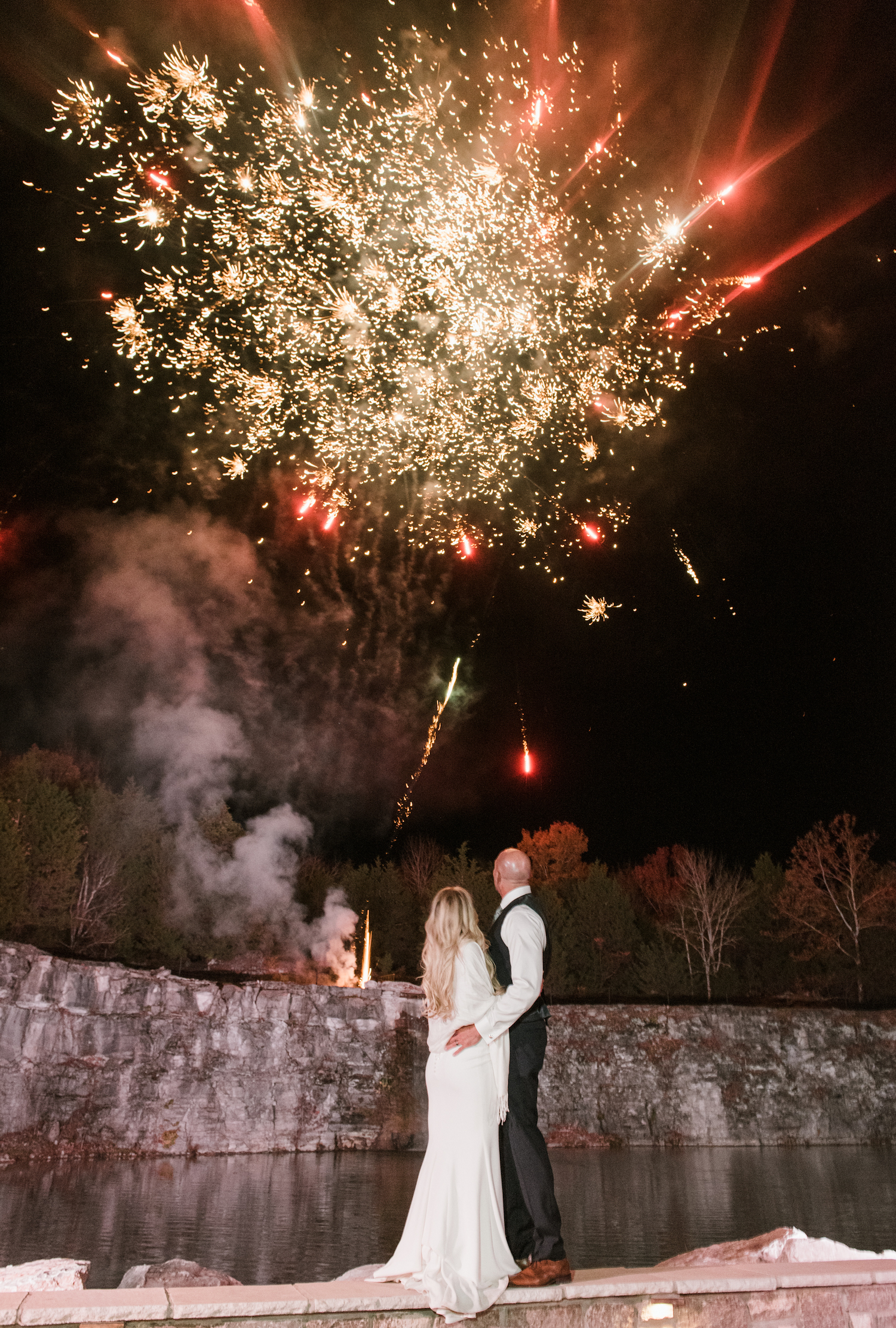Wedding Fireworks captured by Shelby Rae Photographs on Nashville Bride Guide