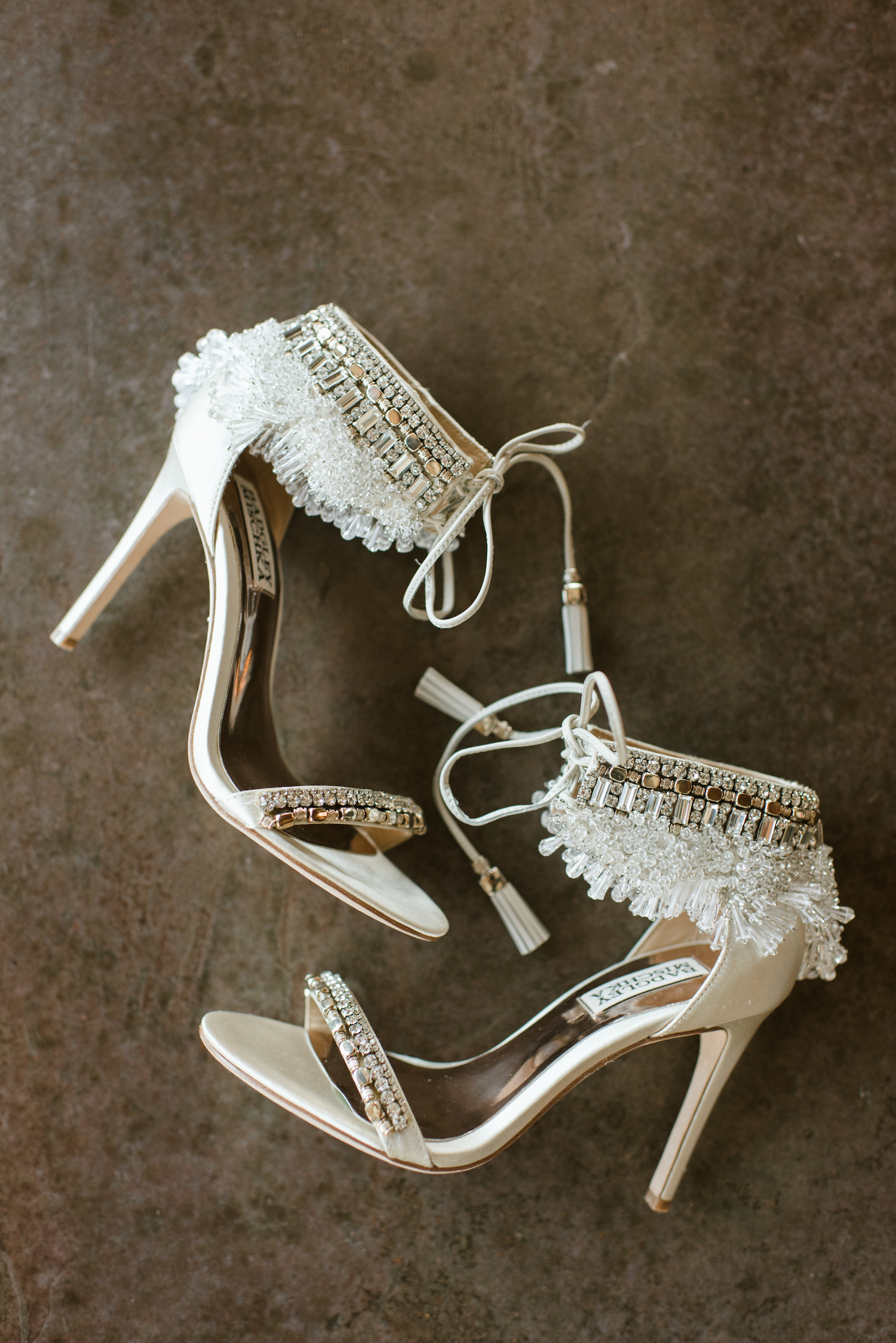 Bridal Shoes: Upscale Marble Graystone Quarry Wedding featured on Nashville Bride Guide