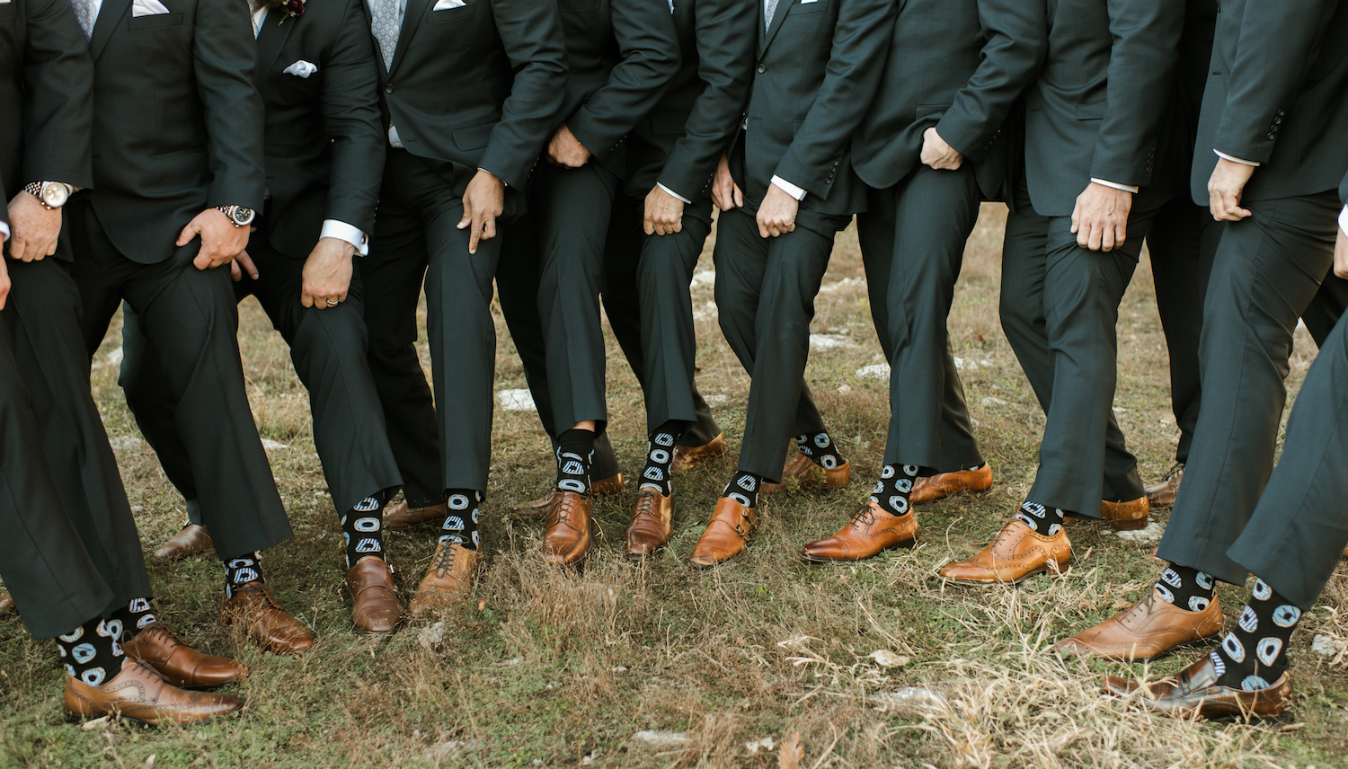 Groomsmen Socks: Upscale Marble Graystone Quarry Wedding featured on Nashville Bride Guide