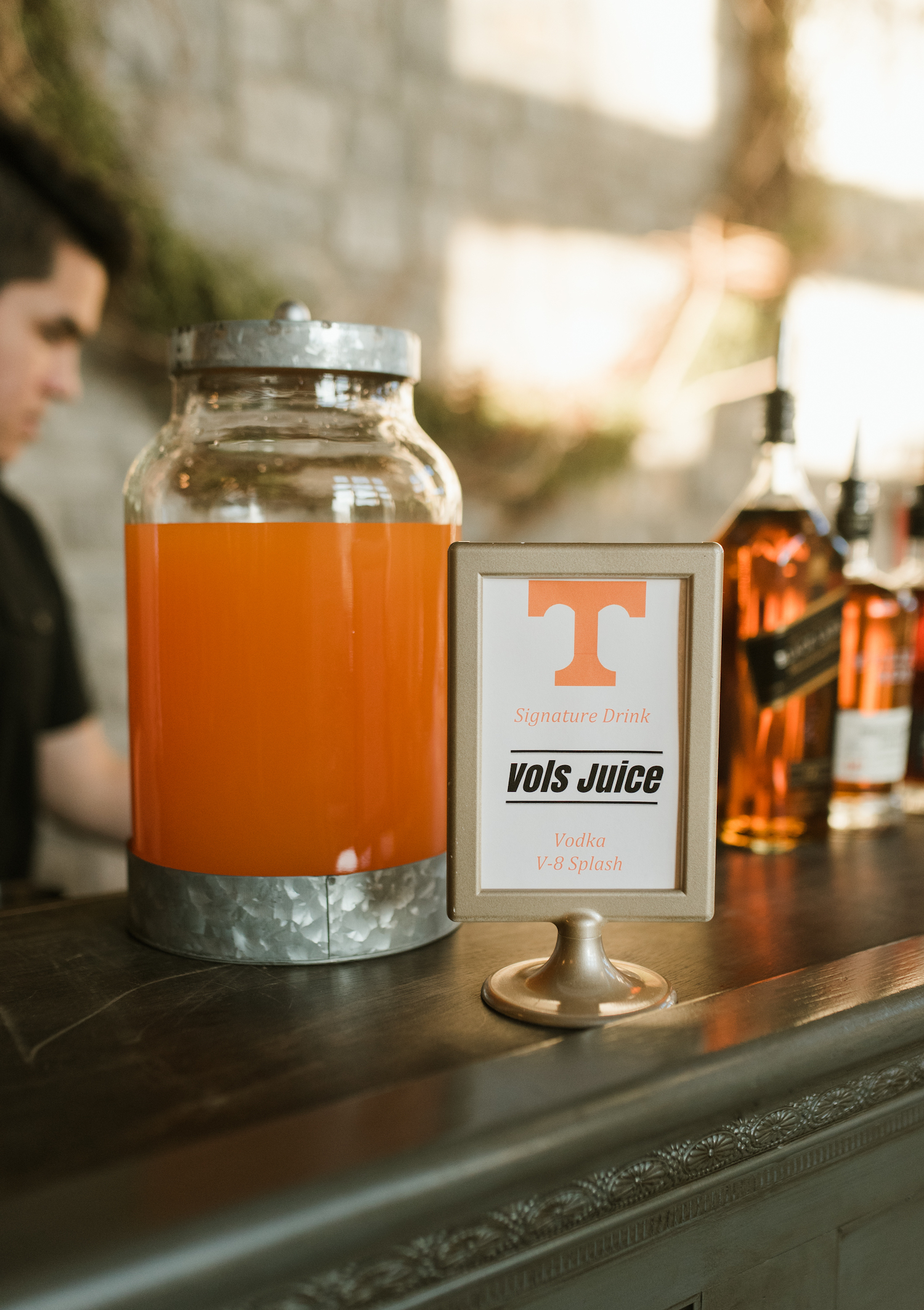 Wedding Signature Drink Sign: Upscale Marble Graystone Quarry Wedding featured on Nashville Bride Guide by Shelby Rae Photographs
