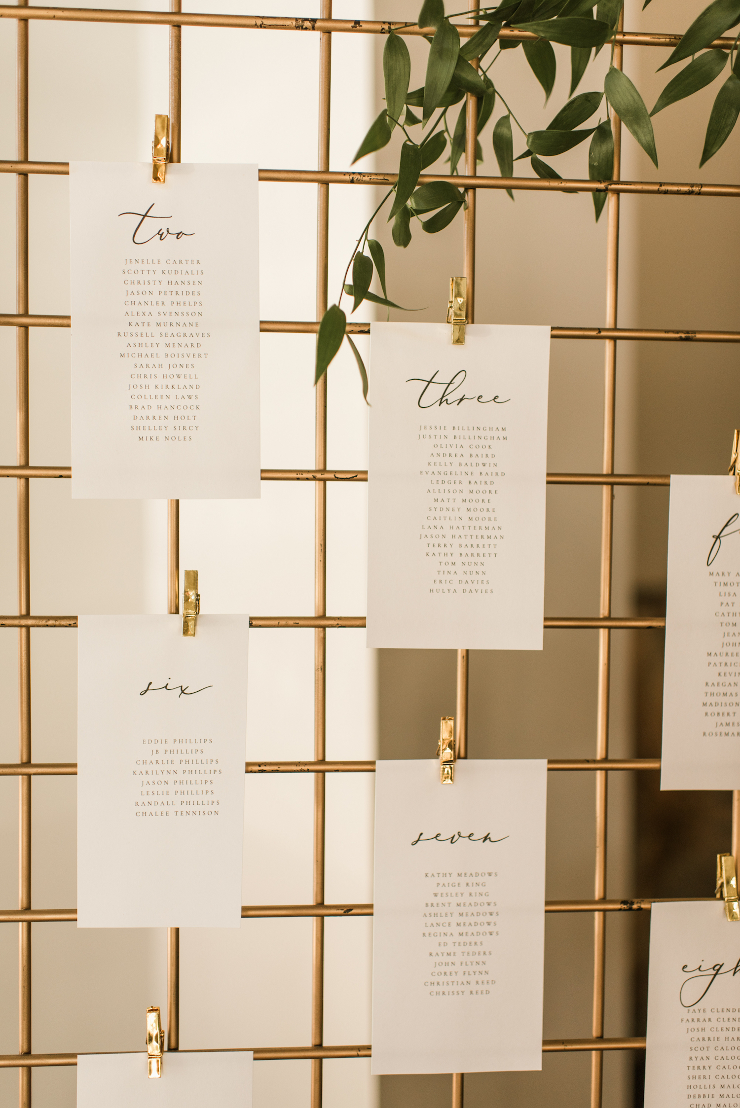 Modern Wedding Escort Card Display: Upscale Marble Graystone Quarry Wedding featured on Nashville Bride Guide