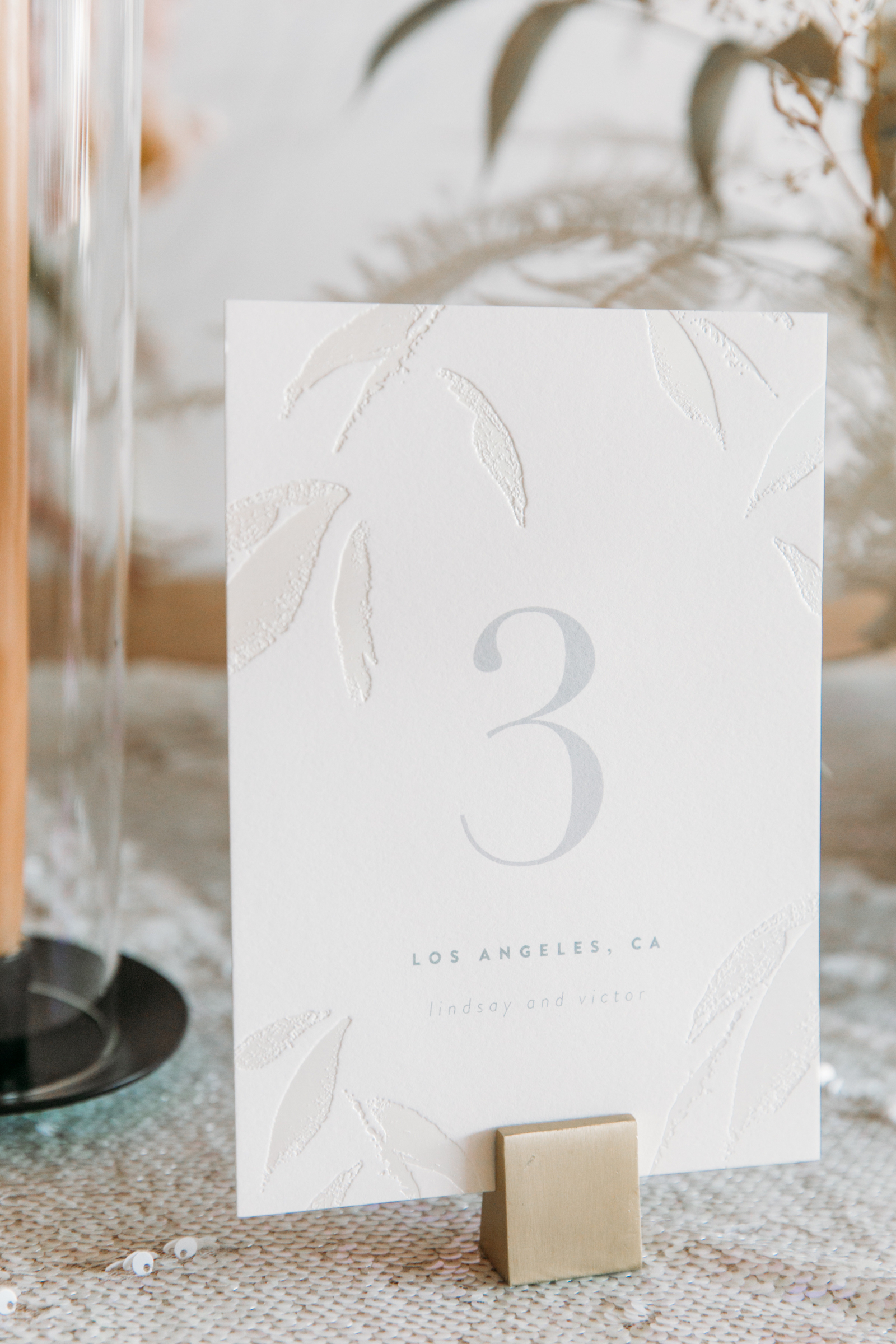Wedding Table Number Signs from Minted Weddings
