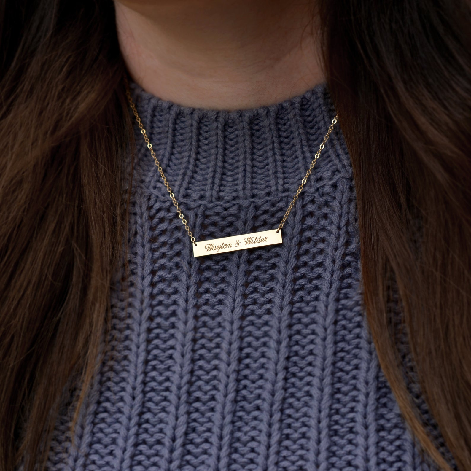 fiancée gift idea - wedding date necklace