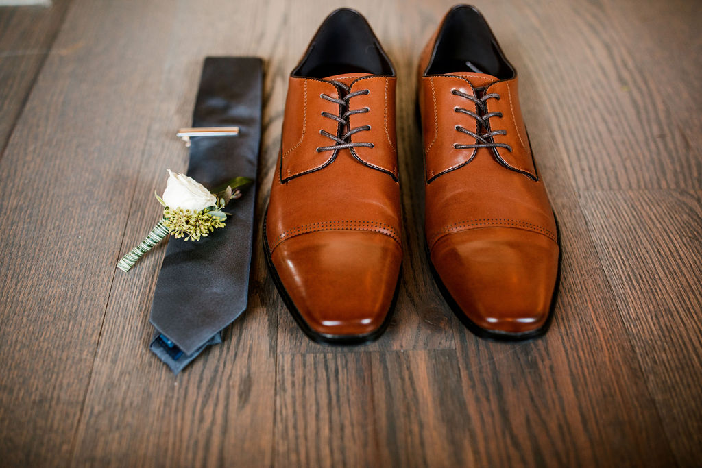 Brown Grooms Shoes: Beautiful Graystone Quarry Wedding captured by John Myers Photography & Videography