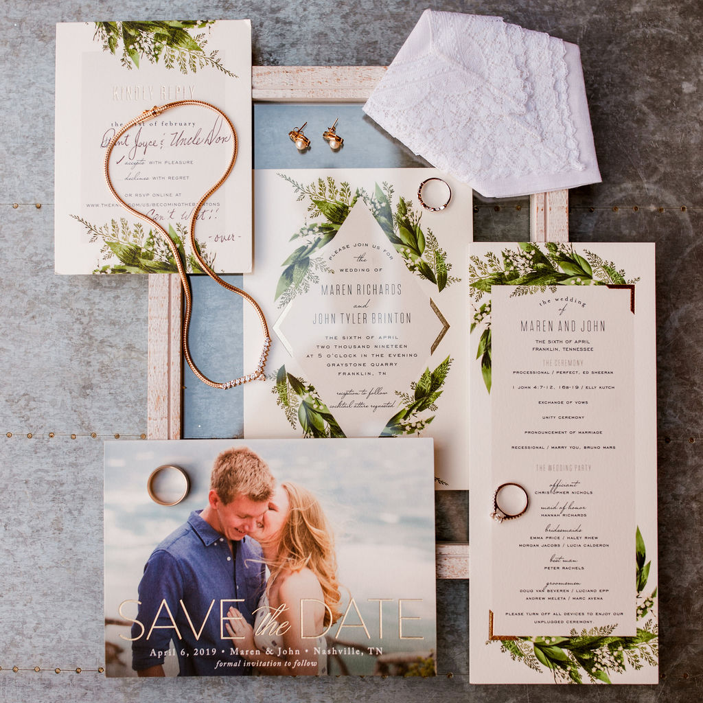 Minted Wedding Invitations: Beautiful Graystone Quarry Wedding captured by John Myers Photography & Videography