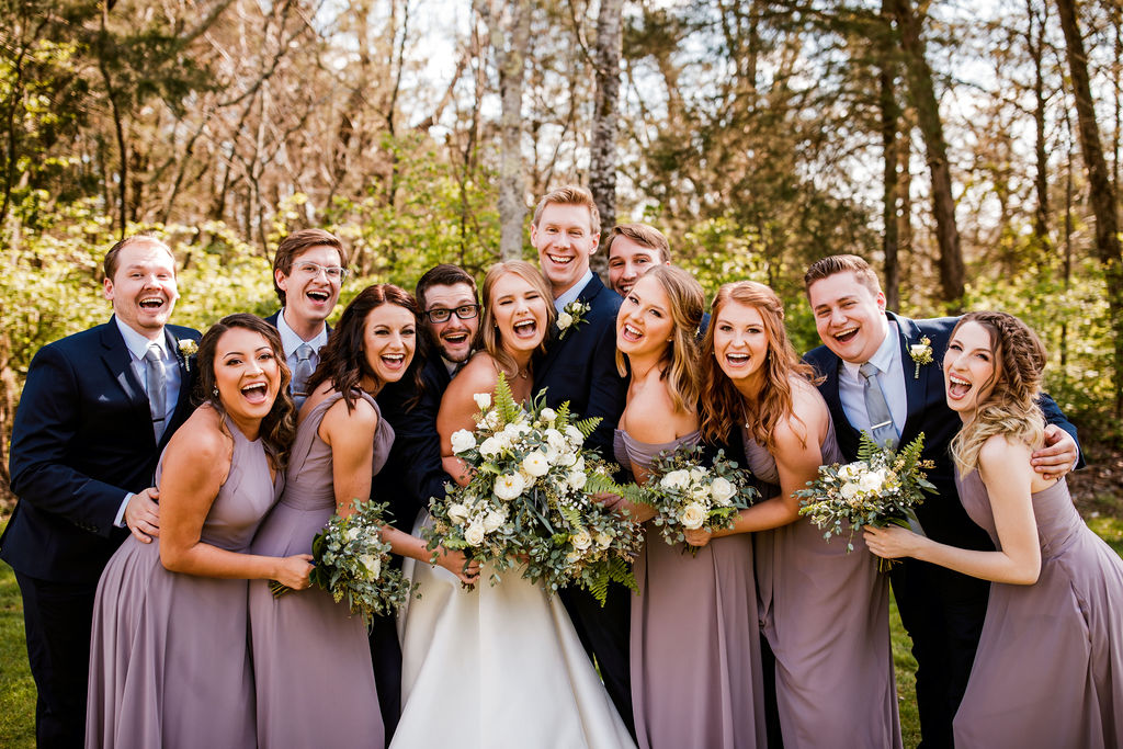 Bridal Party Photo Inspiration: Beautiful Graystone Quarry Wedding captured by John Myers Photography & Videography