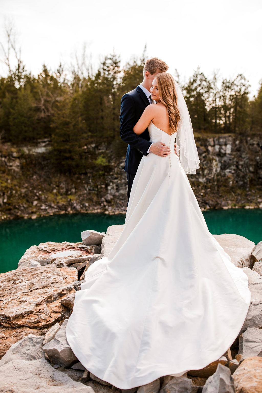 Strapless Wedding Dress: Beautiful Graystone Quarry Wedding captured by John Myers Photography & Videography