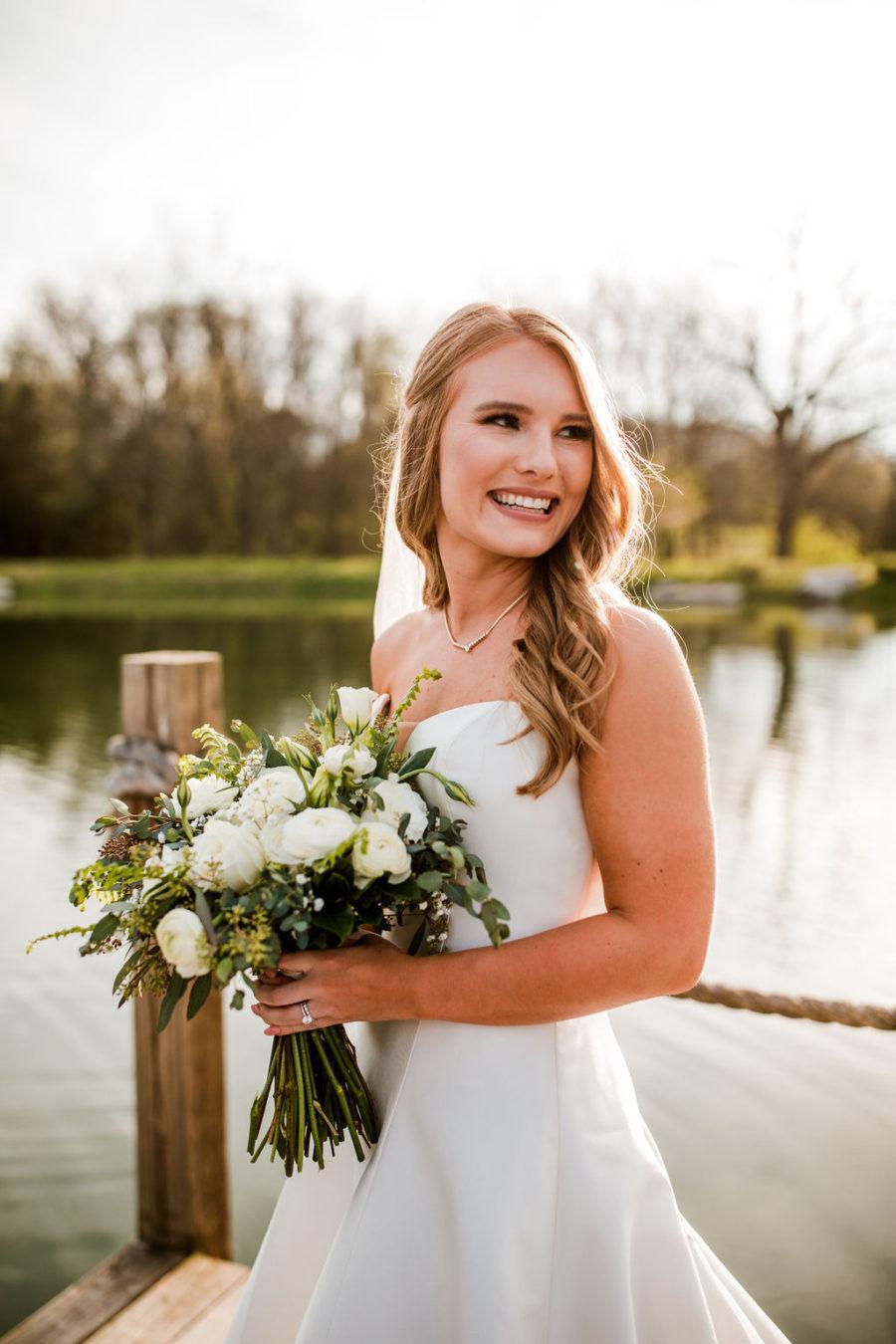 Bridal Portrait: Beautiful Graystone Quarry Wedding featured on Nashville Bride Guide!